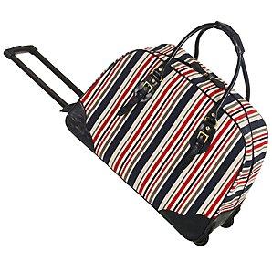 John Lewis Catrin Stripe Wheeled Travel Bag, Multicoloured