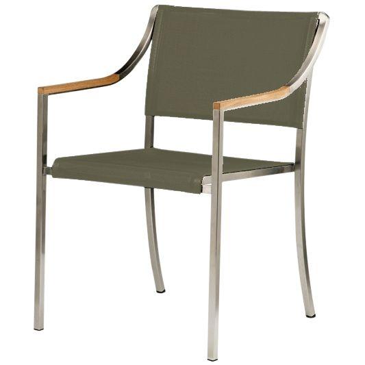 Barlow Tyrie Quattro Stacking Armchair, Titanium