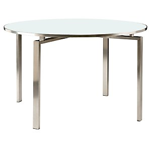 Barlow Tyrie Mercury Round Dining Table, Sea Ice