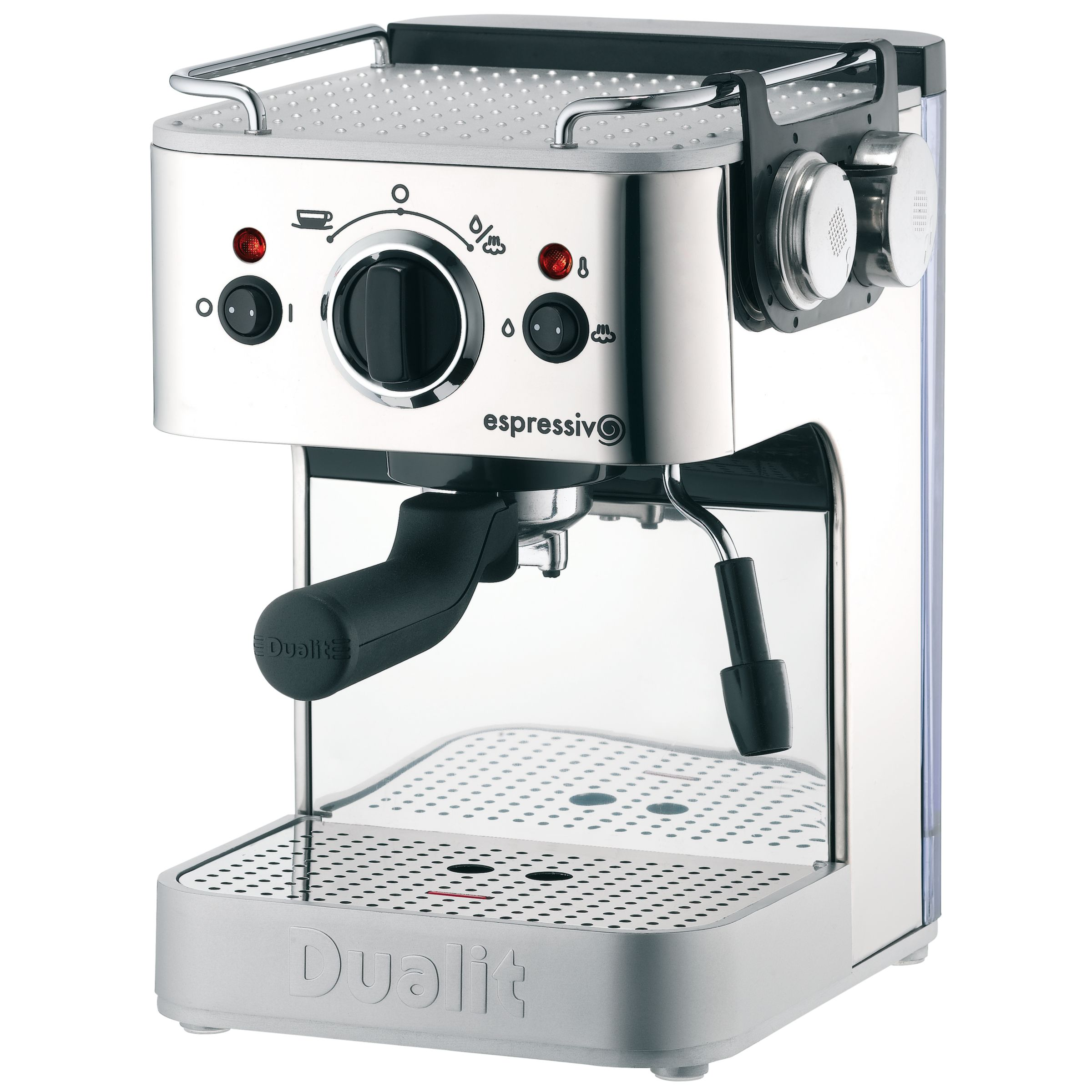 Dualit Espressivo 79000 Coffee Machine, Polished Steel with Frothing Jug at JohnLewis