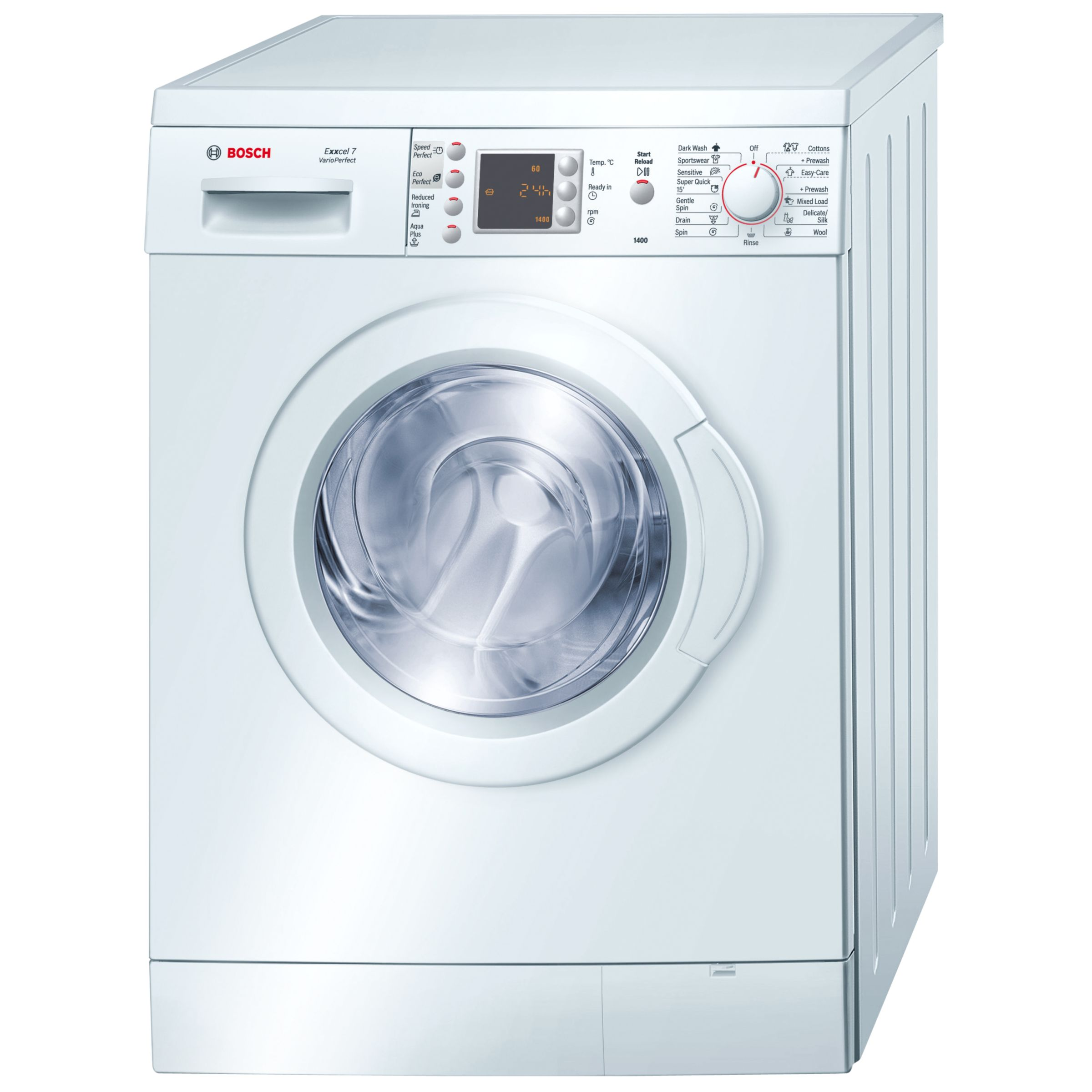 Bosch Exxcel WAE28469UK Washing Machine, White at John Lewis