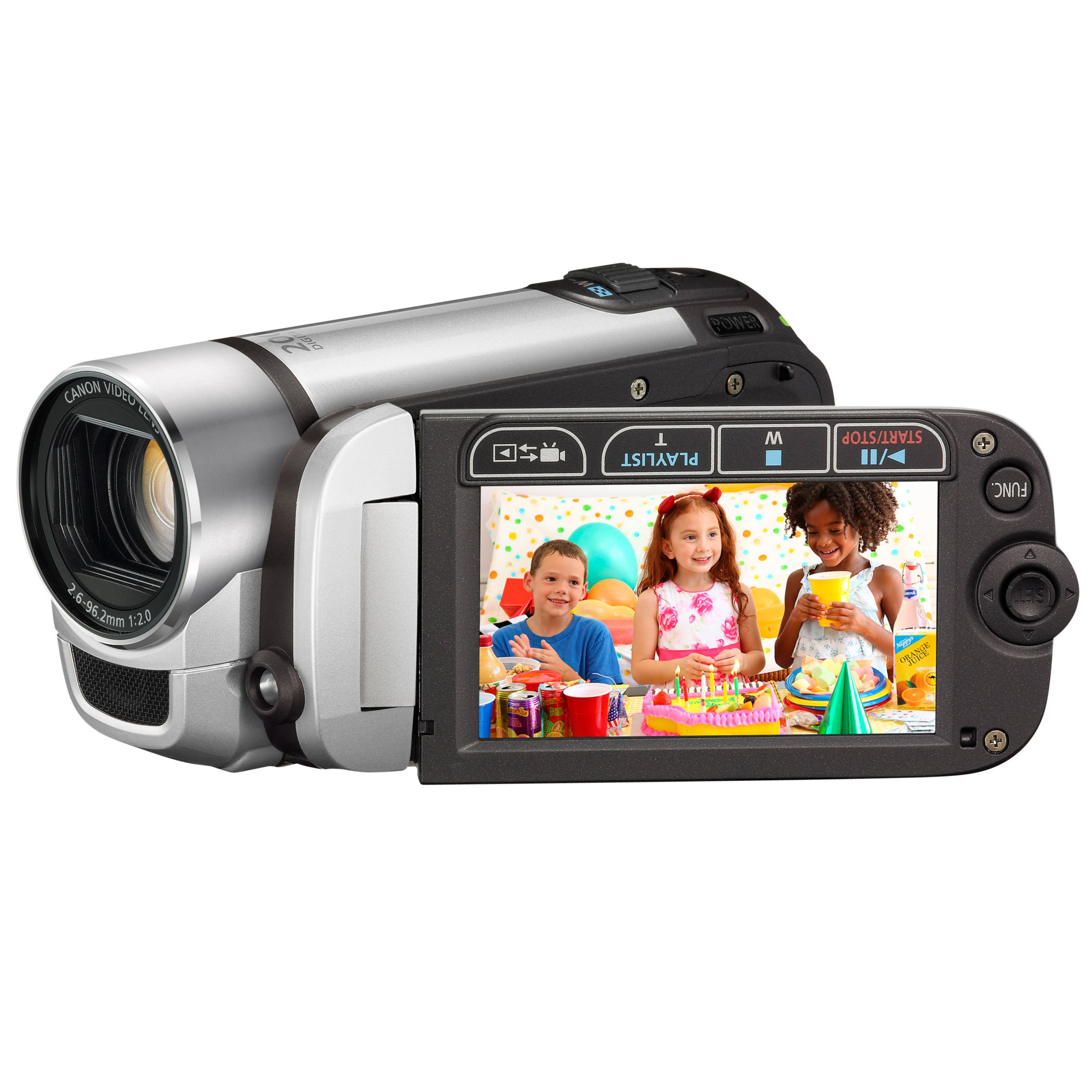 Canon FS306 SD Camcorder and Kit, Silver at John Lewis