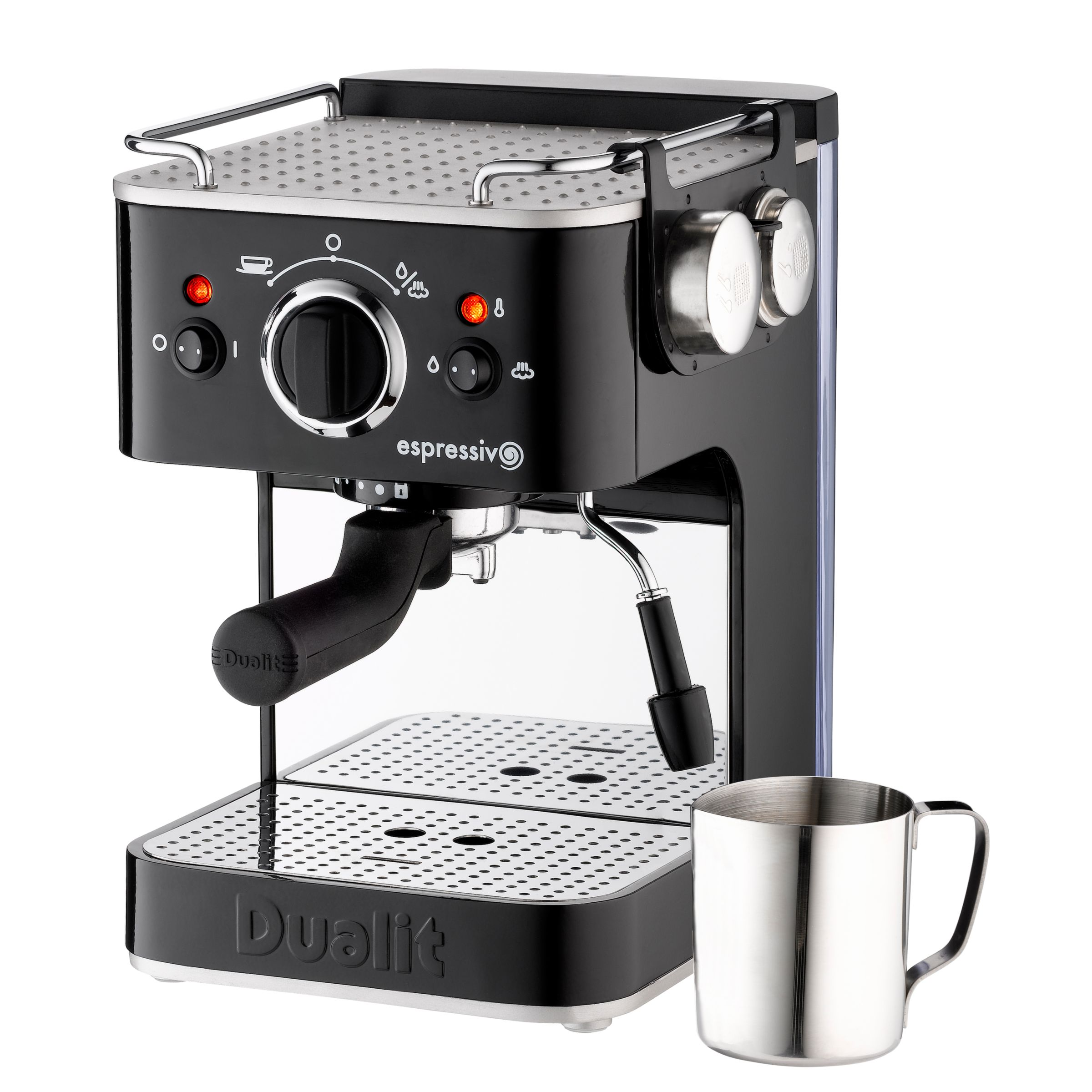 Dualit Espressivo 79005 Coffee Machine, Black with Frothing Jug at JohnLewis