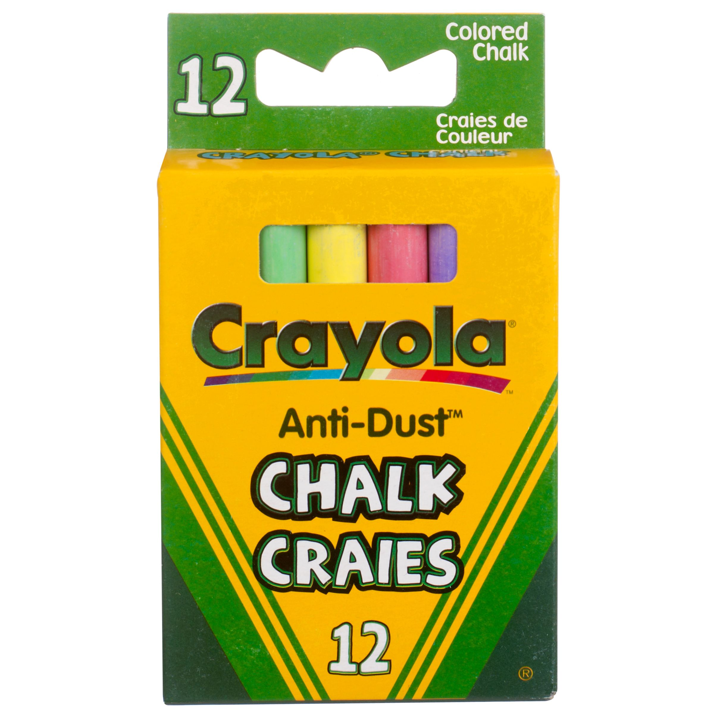 Crayola Colour Chalks, Pack of 12