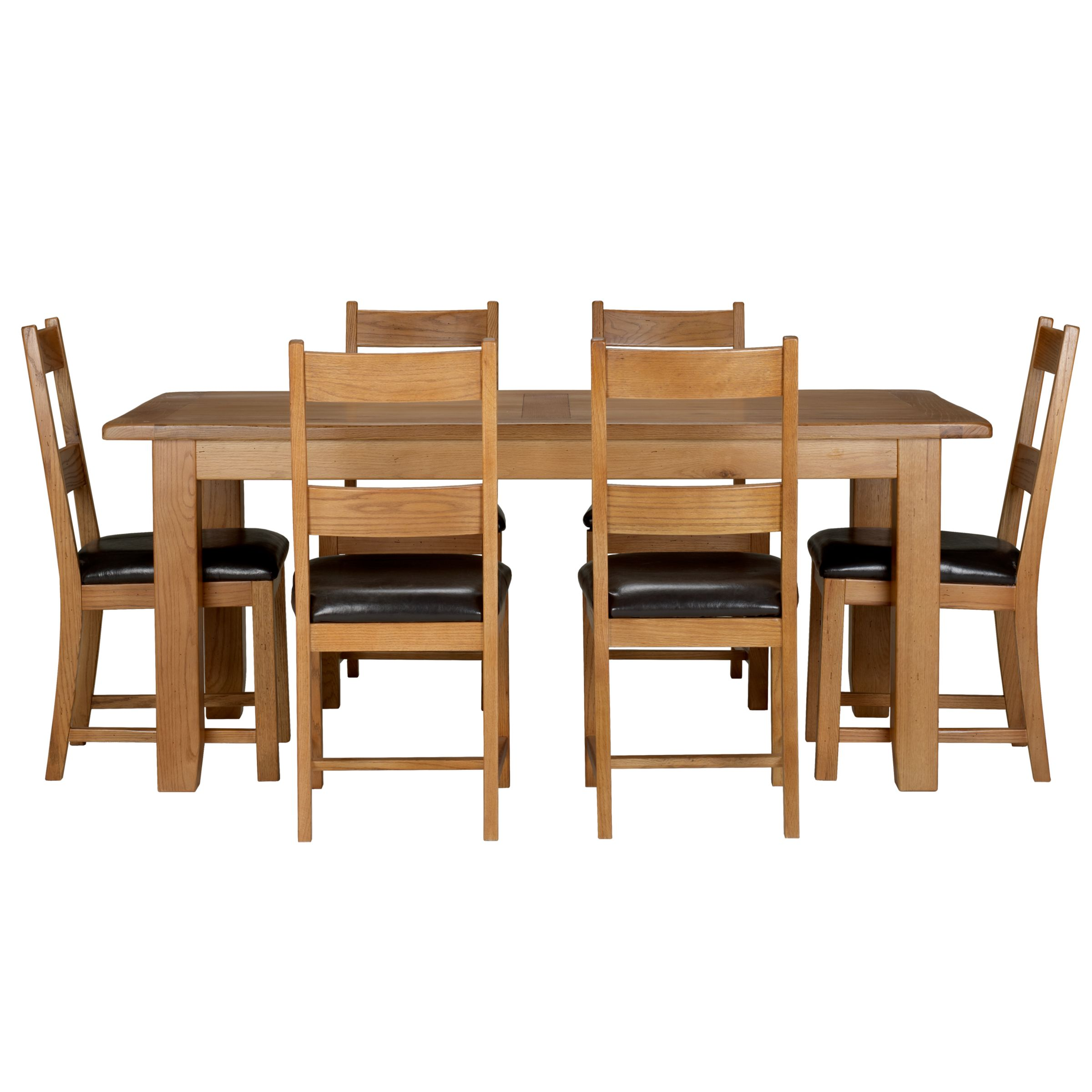 oak veneer table and 6 chairs : 230911769alt1 from www.comparestoreprices.co.uk size 2400 x 2400 jpeg 268kB