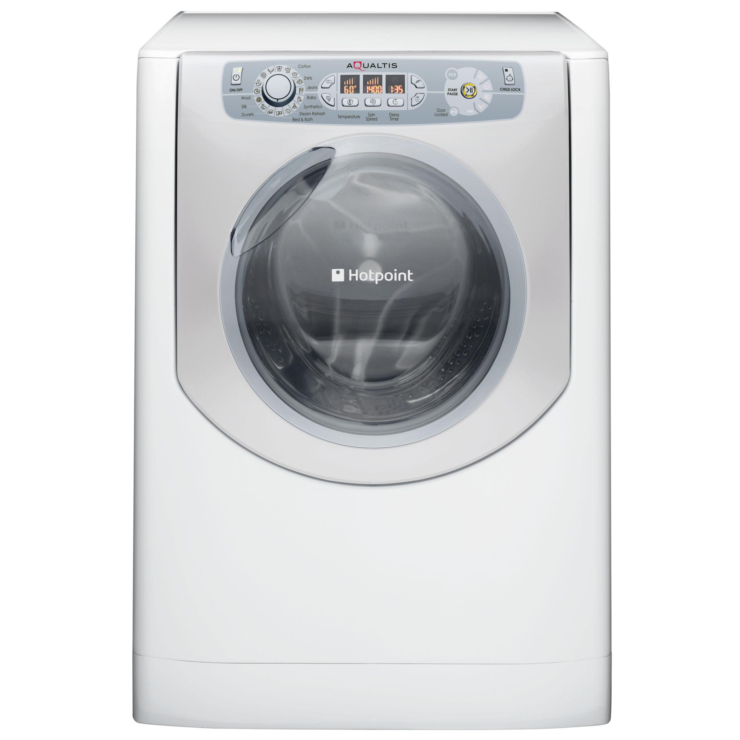 Hotpoint Aqualtis AQ9F492IU Washing Machine, White