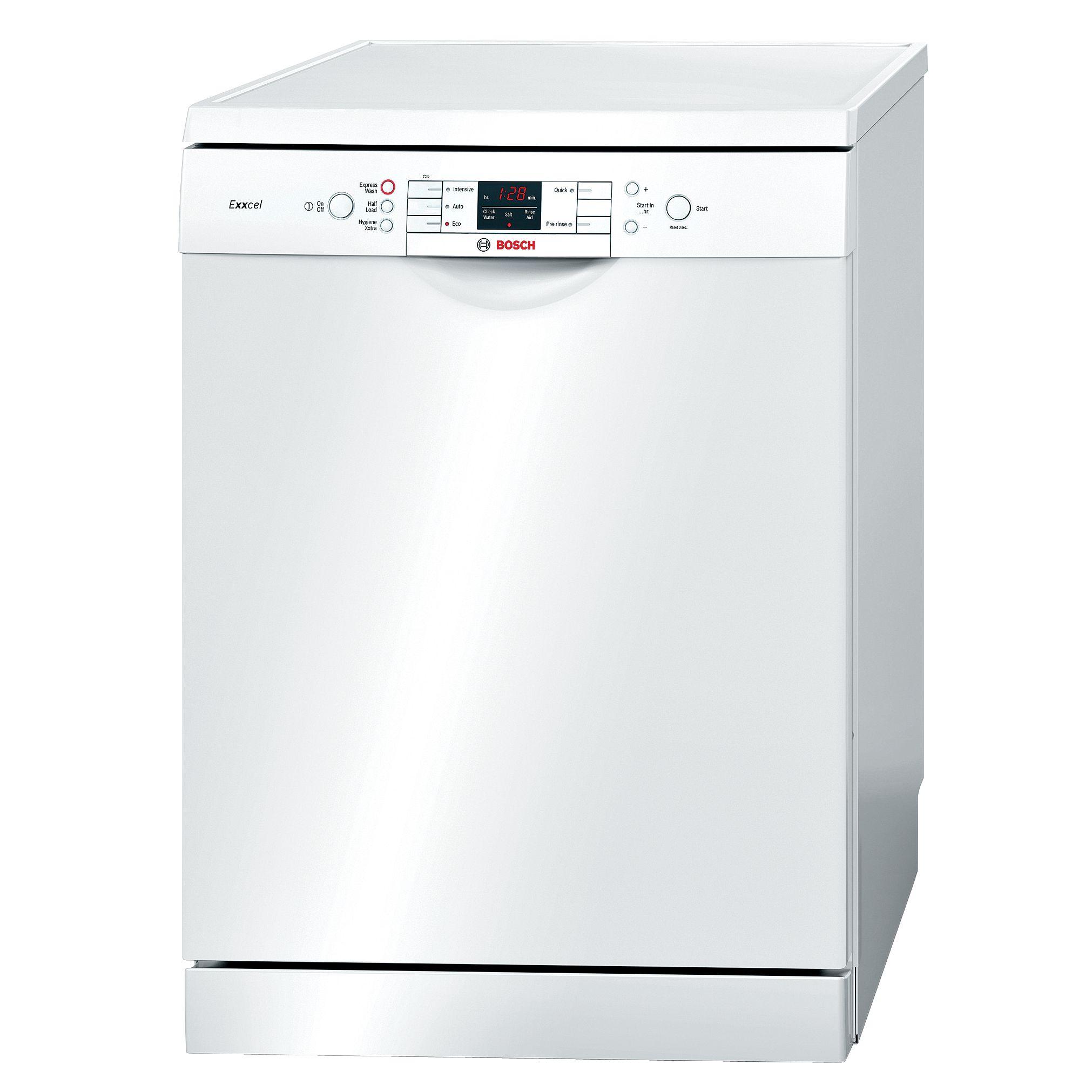 Bosch SMS53E12GB Dishwasher, White at John Lewis