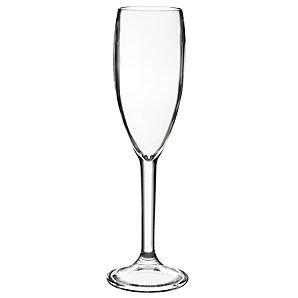John Lewis Champagne Flute, Acrylic, Set of 4