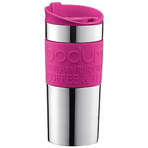 Bodum Travel Mug, Pink, 0.35L