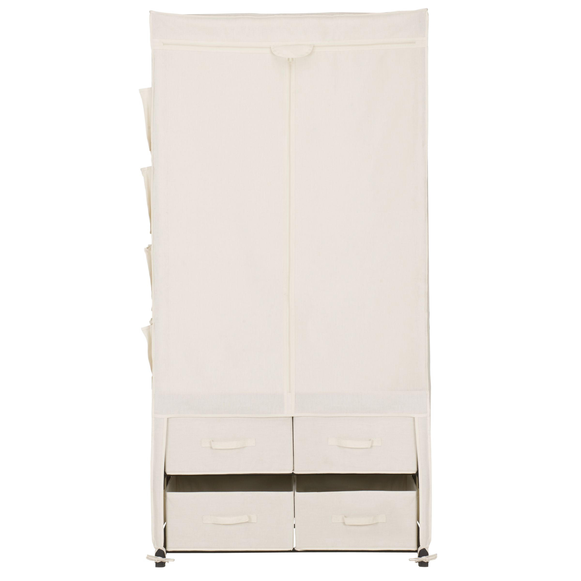 john lewis canvas wardrobe cream review compare prices. Black Bedroom Furniture Sets. Home Design Ideas