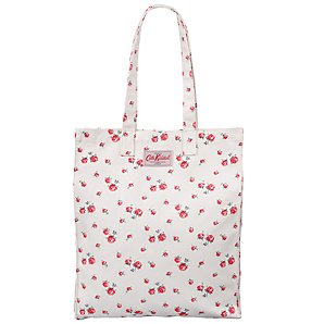 Cath Kidston Scattered Rose Book Bag, White/Red