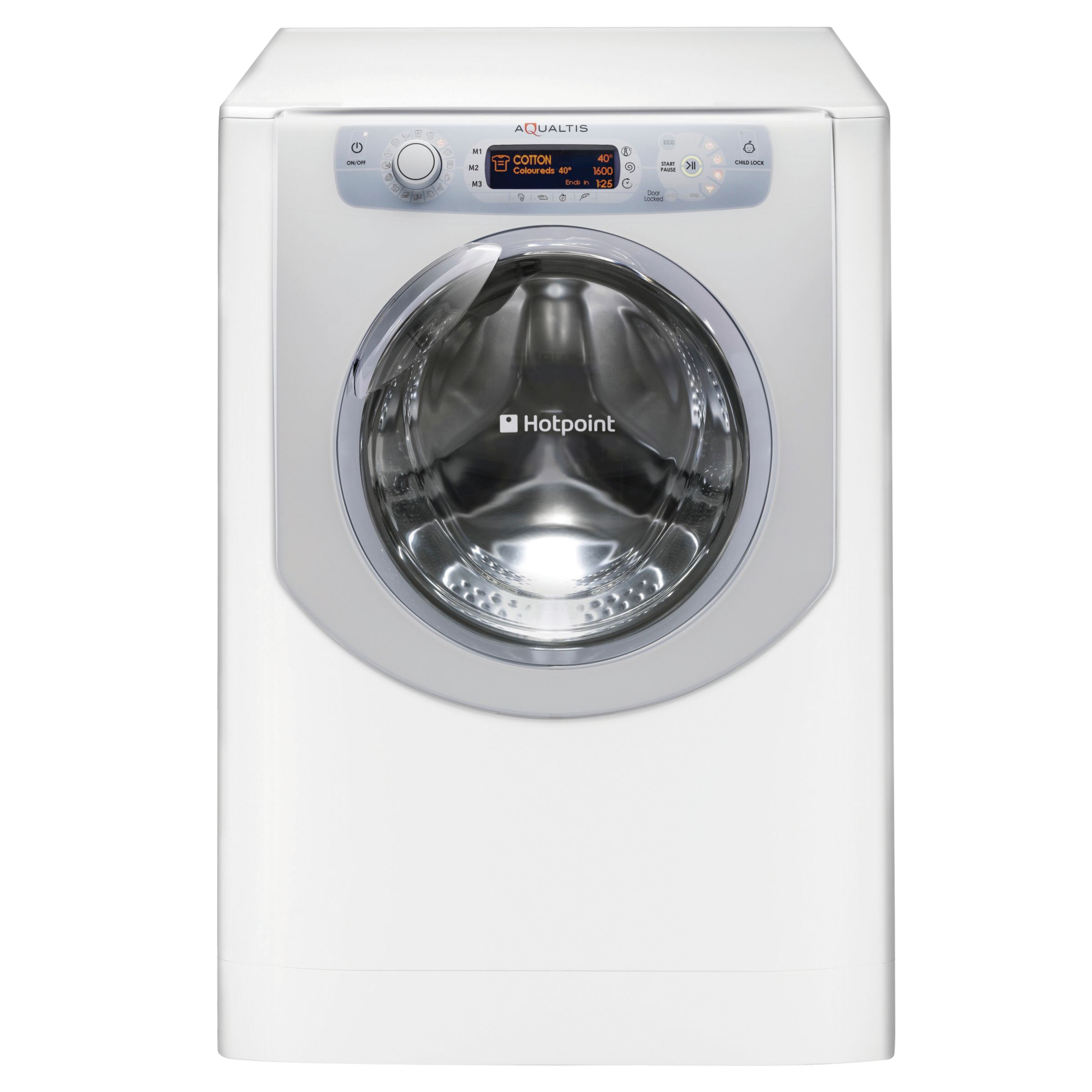 Hotpoint Aqualtis AQ9D692IV Washing Machine, White