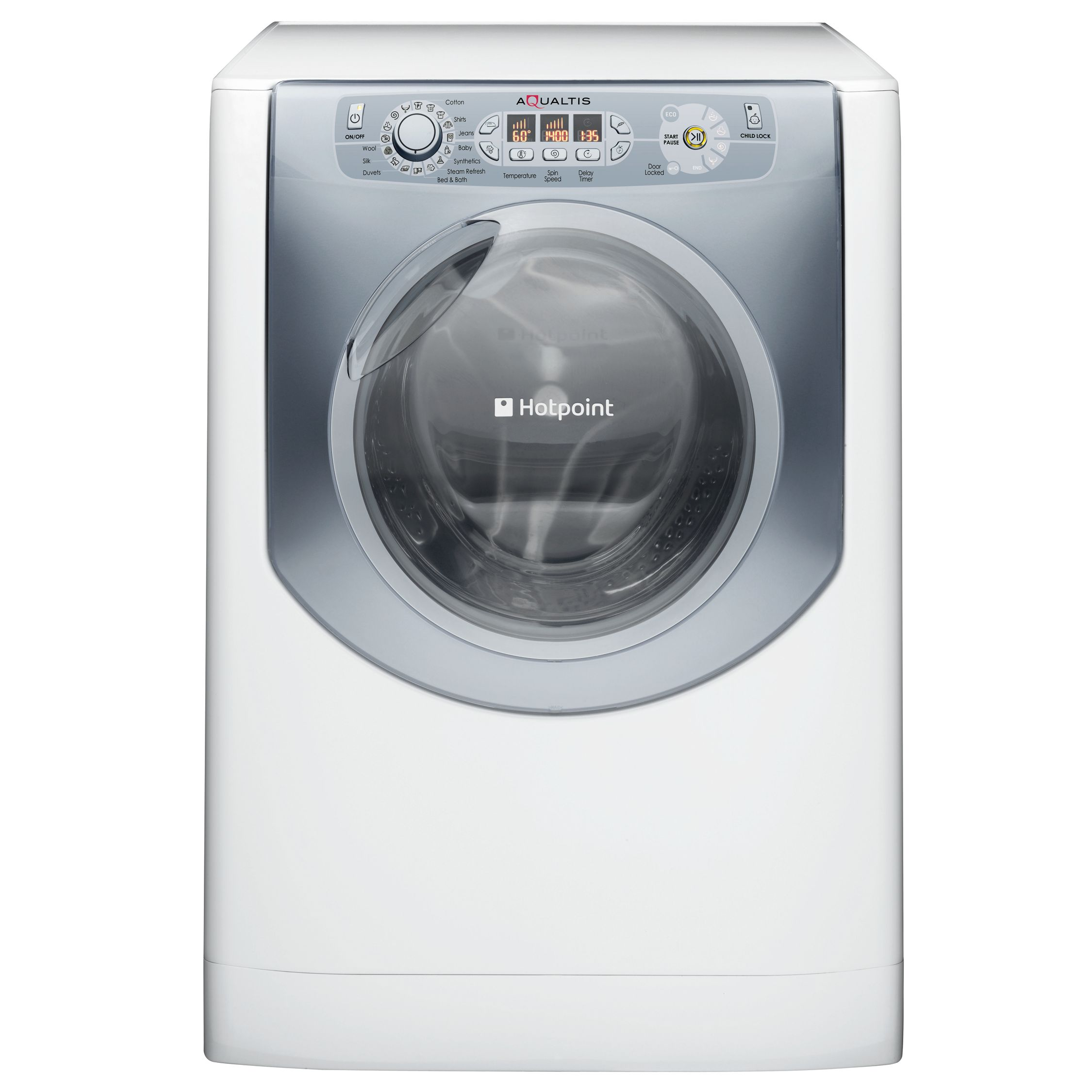 Hotpoint Aqualtis AQ9F492UV Washing Machine, White