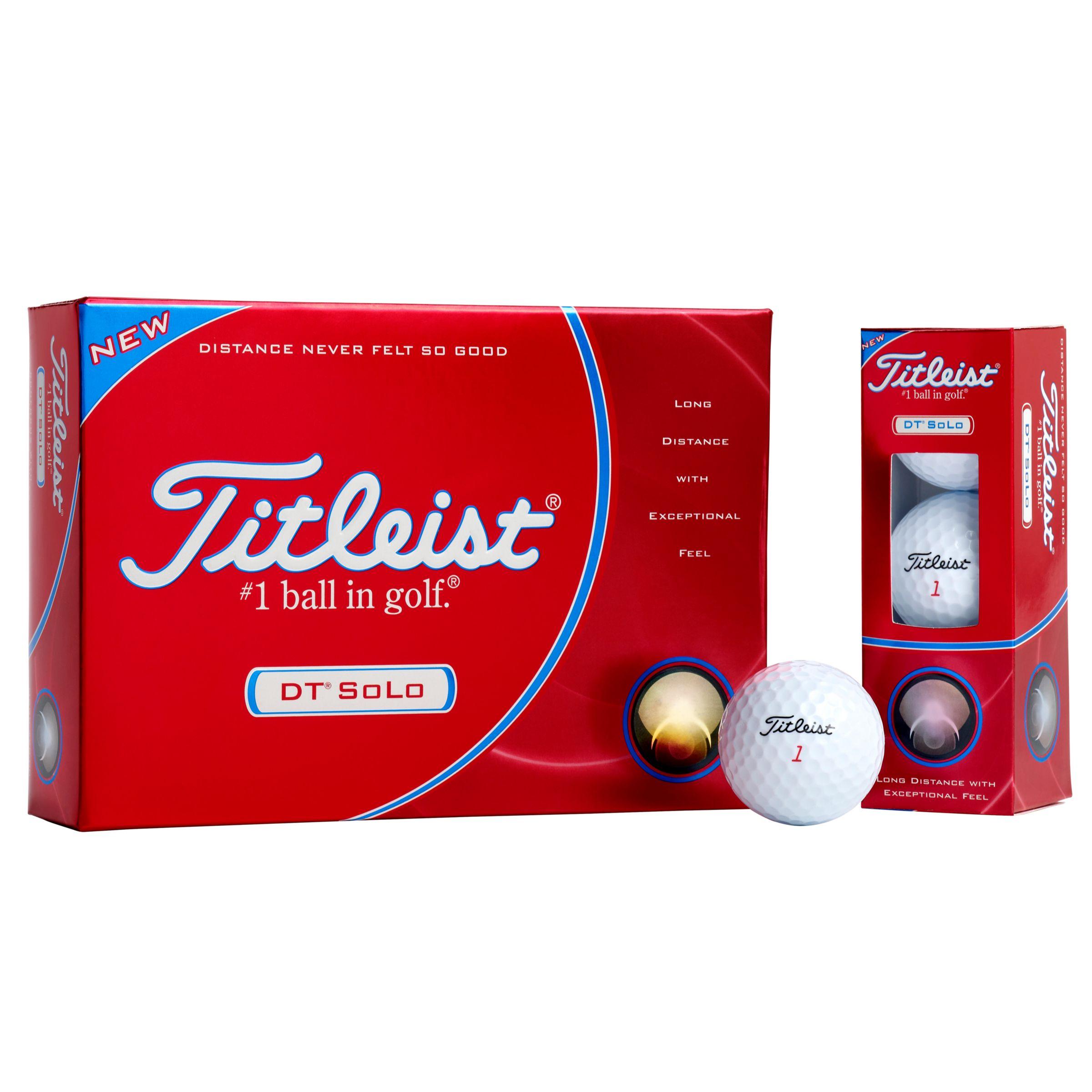 DT Solo Golf Balls, Pack of 12, White
