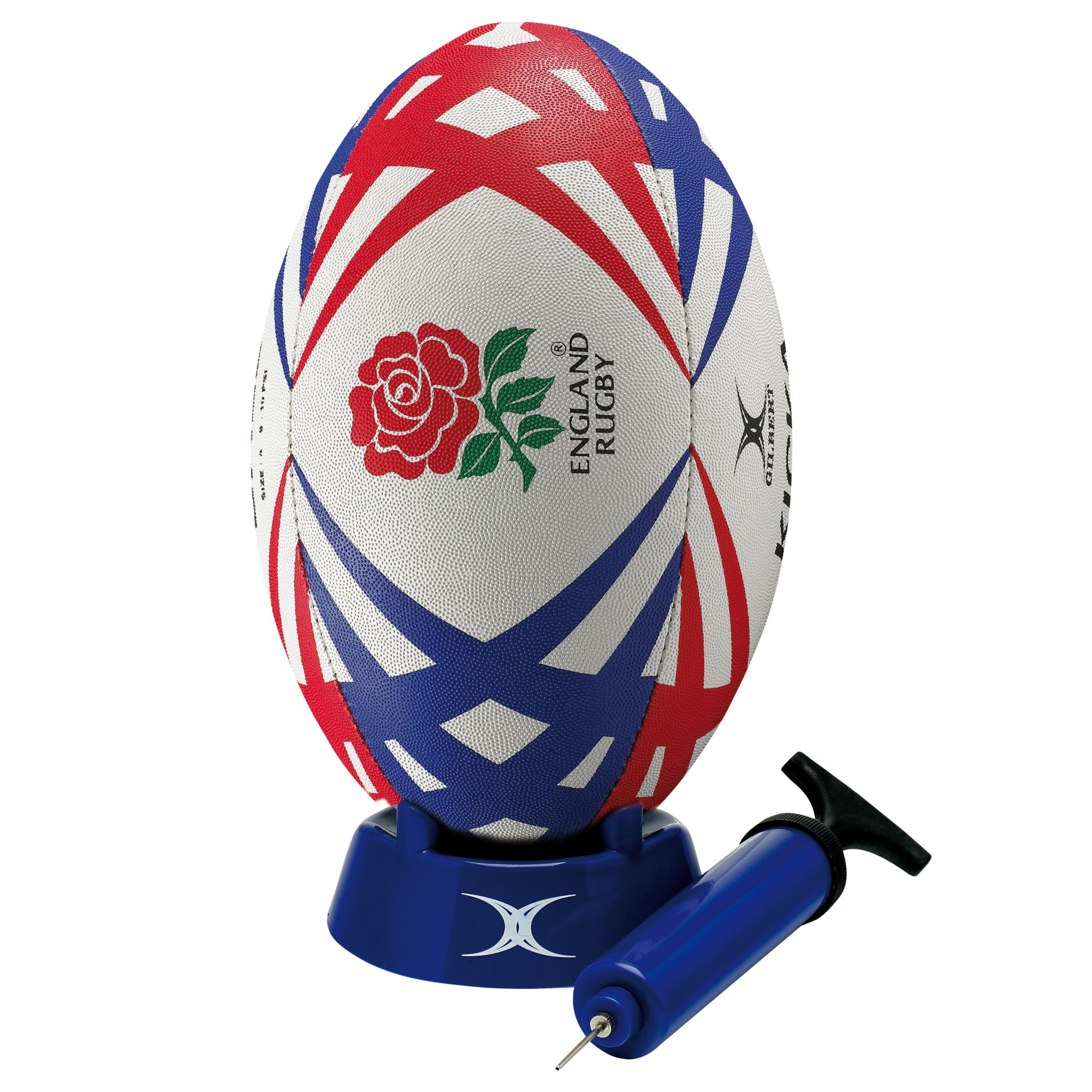 Gilbert England Rugby Starter Pack, Red/Blue/White