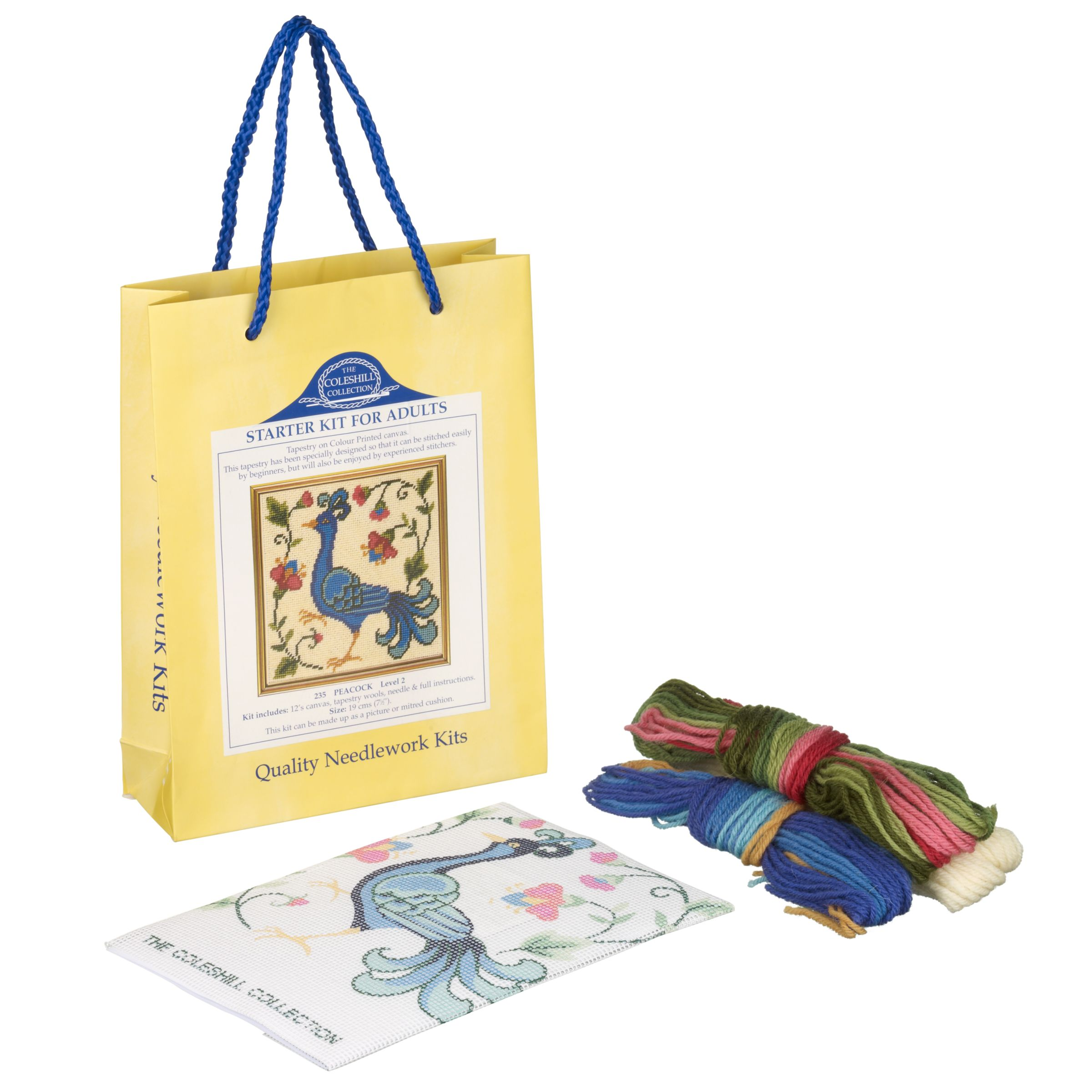 The Coleshill Collection Peacock Tapestry Kit