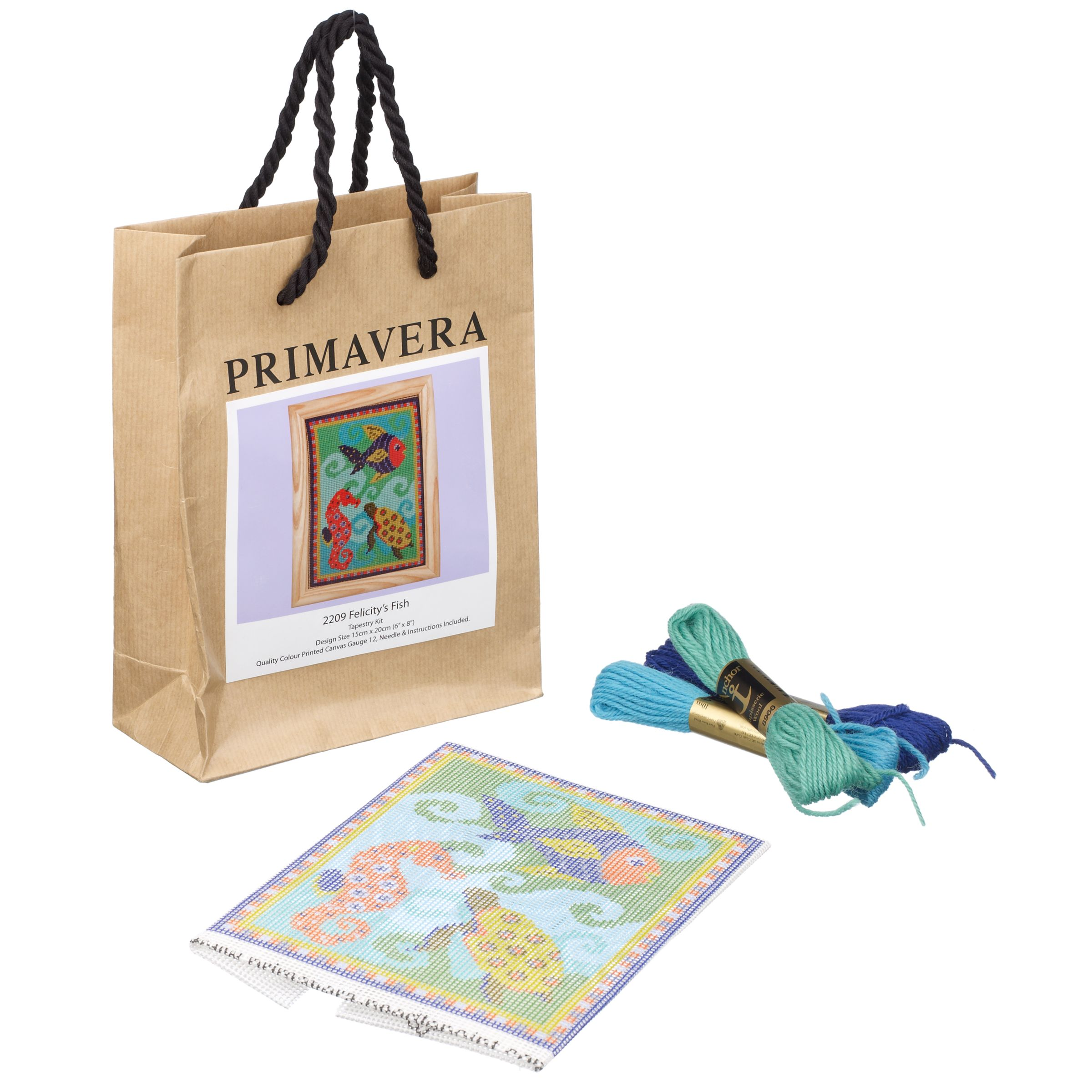 Primavera Felicity's Fish Needlepoint Tapestry Kit