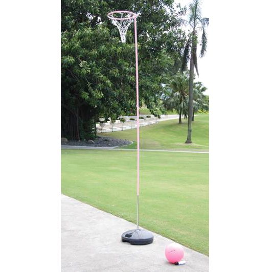 Riley Netball Post with Stand, Pink