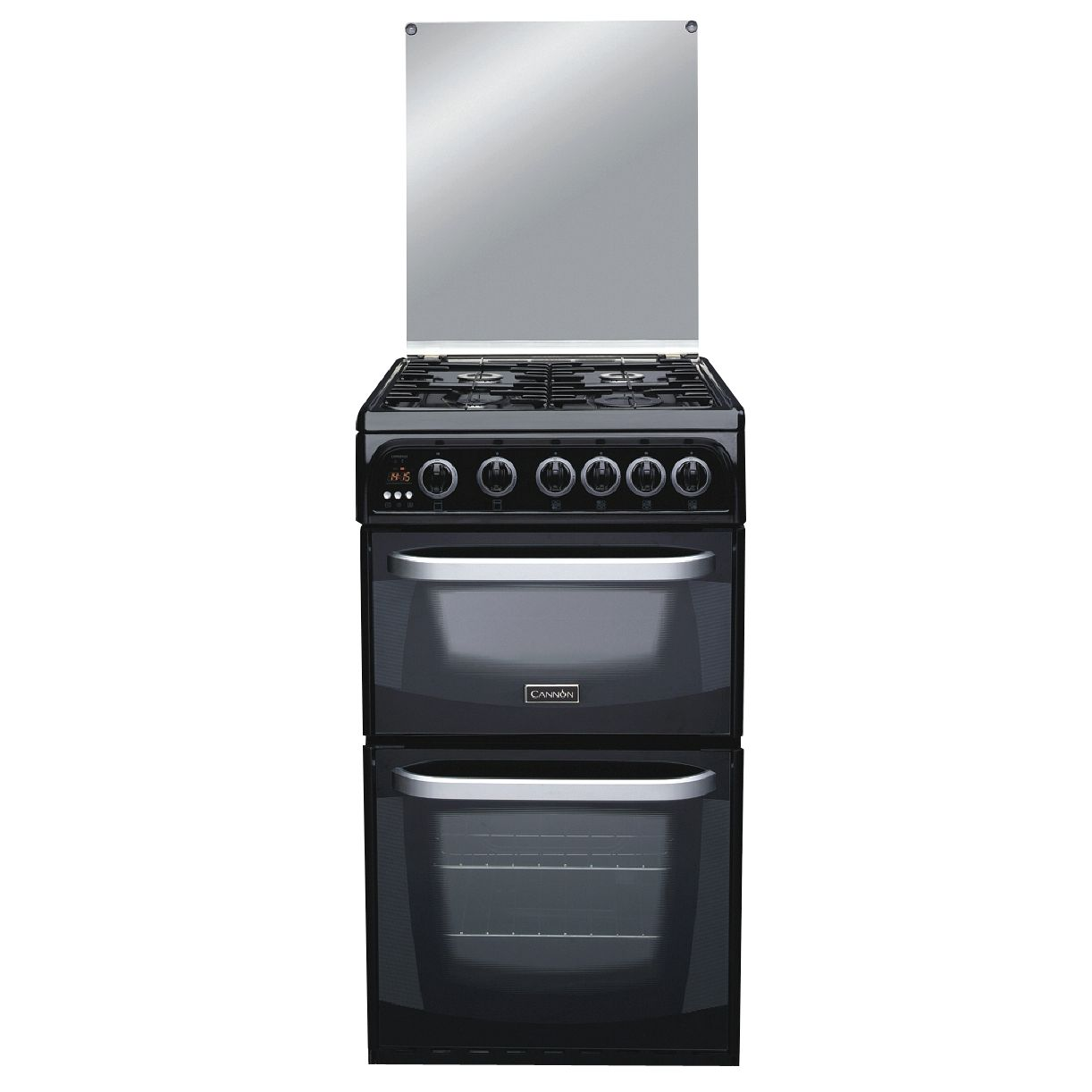 Cannon C50GCKF Coniston Gas Cooker, Black at John Lewis