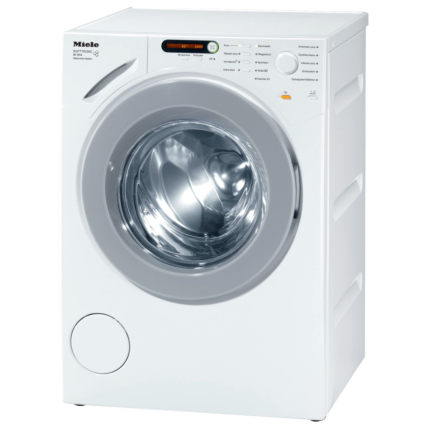 Miele W1914 Washing Machine, 7kg Load, A+ Energy Rating, 1400rpm Spin, White
