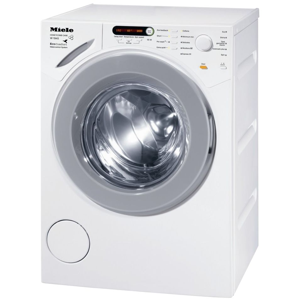 Miele W1945 EcoComfort Washing Machine, 7kg Load, A+++ Energy Rating, 1400rpm Spin, White