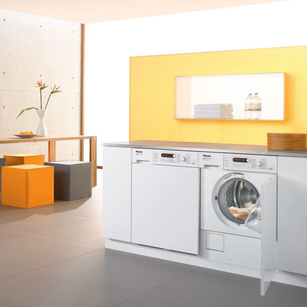 Miele W2819IR Semi-Integrated Washing Machine, 5.5kg Load, A+ Energy Rating, 1400rpm Spin, White