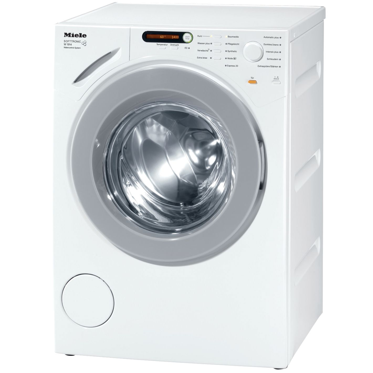 Miele W1916 Washing Machine, 7kg Load, A+++ Energy Rating, 1600rpm Spin, White
