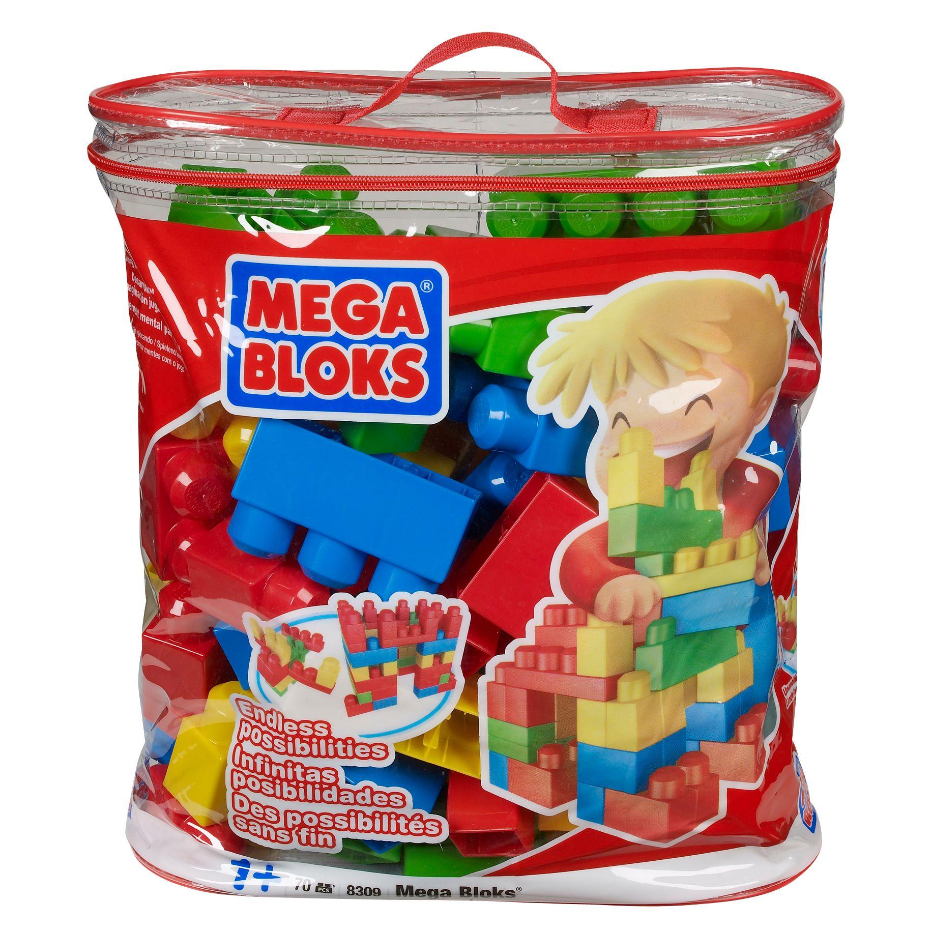 Mega Bloks 70 Piece Building Set, Red