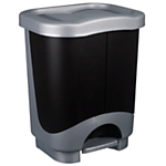 Tontarelli Twin Recycle Pedal Bin, 20L