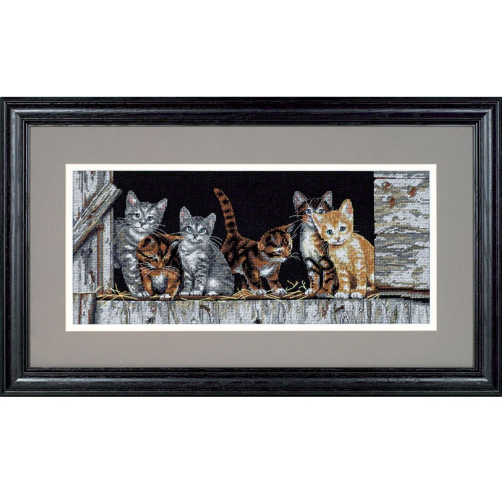 Barnyard Kitties Cross Stitch Kit