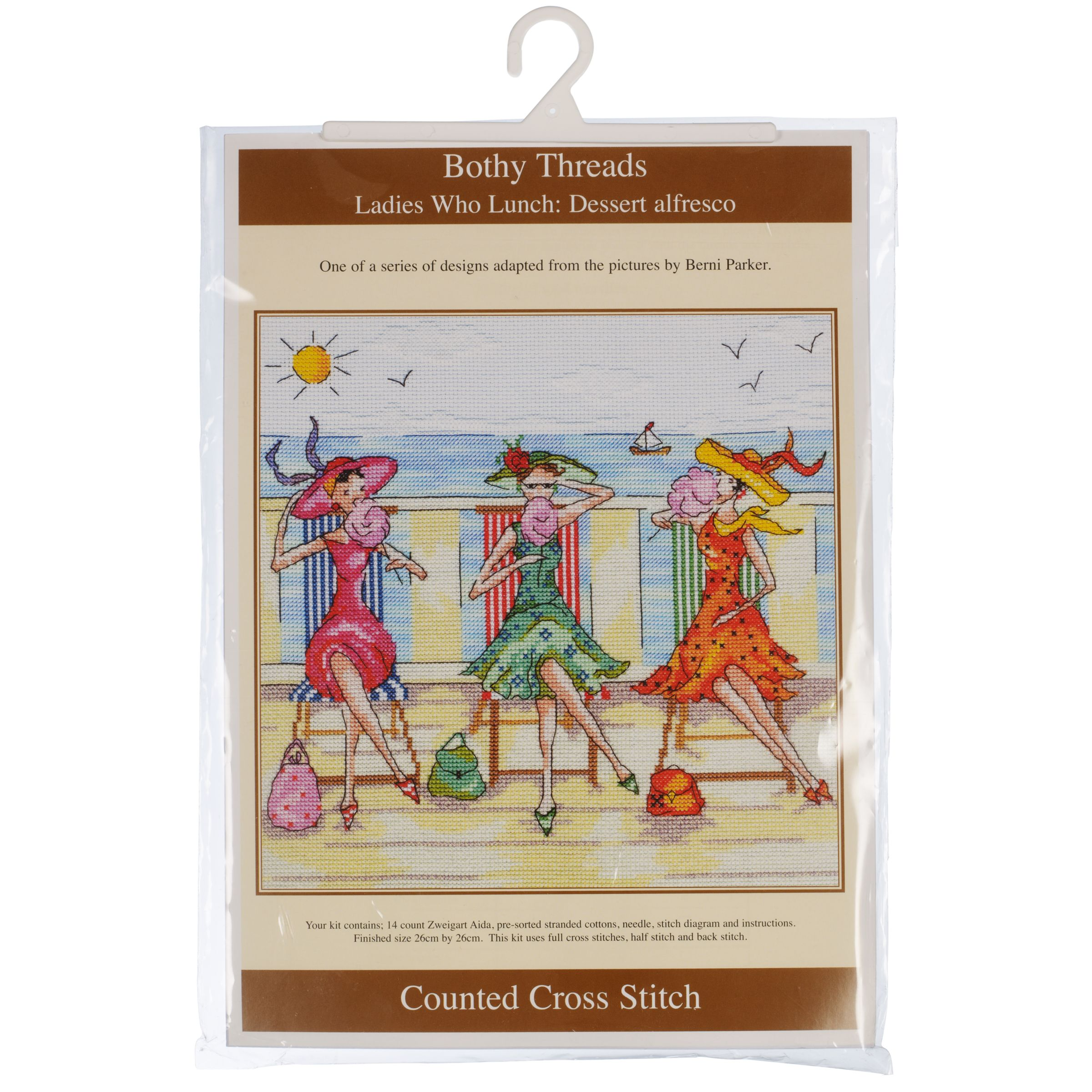 Bothy Threads Ladies Who Lunch: Dessert Alfresco Cross Stitch Kit