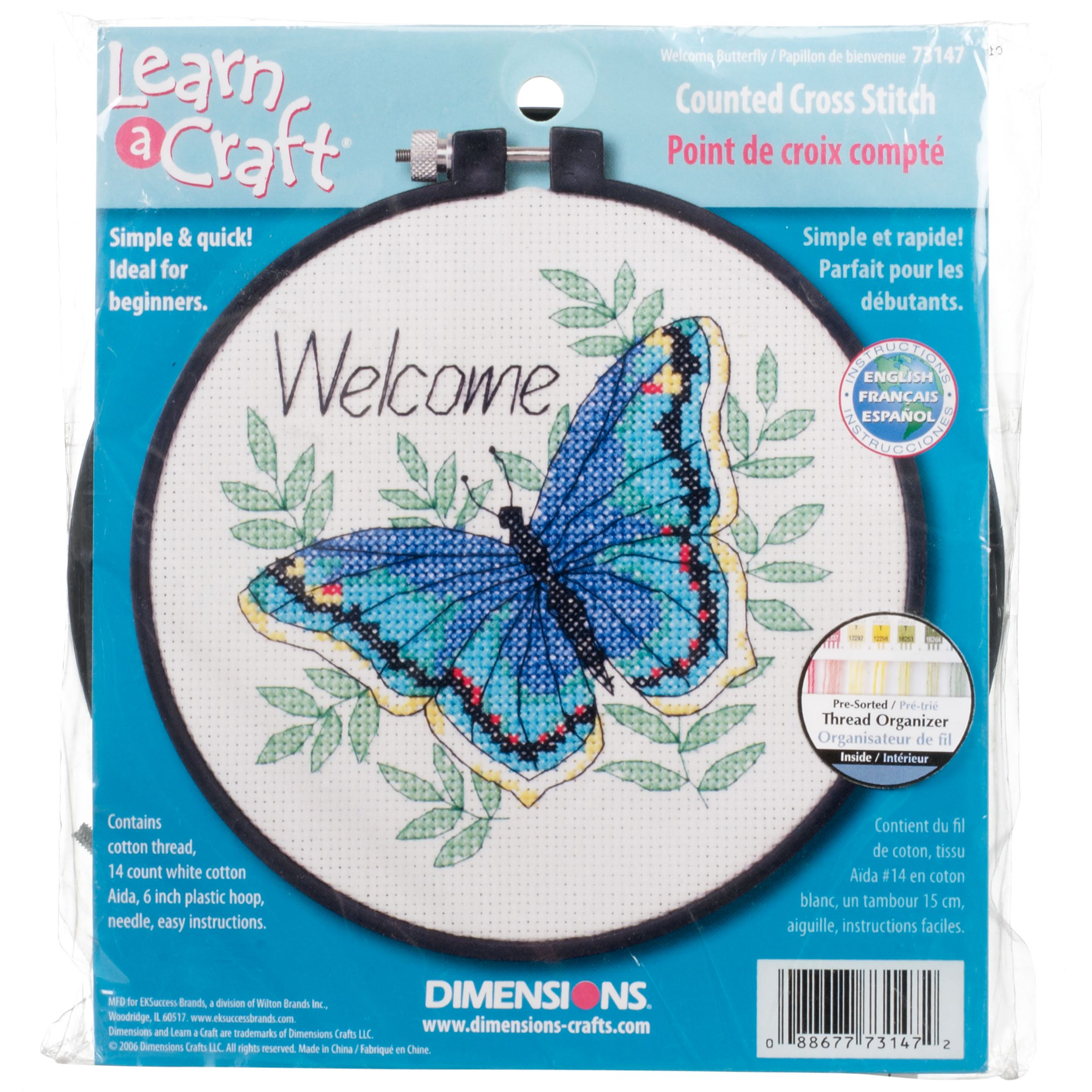 Dimensions Welcome Butterfly Counted Cross Stitch Kit