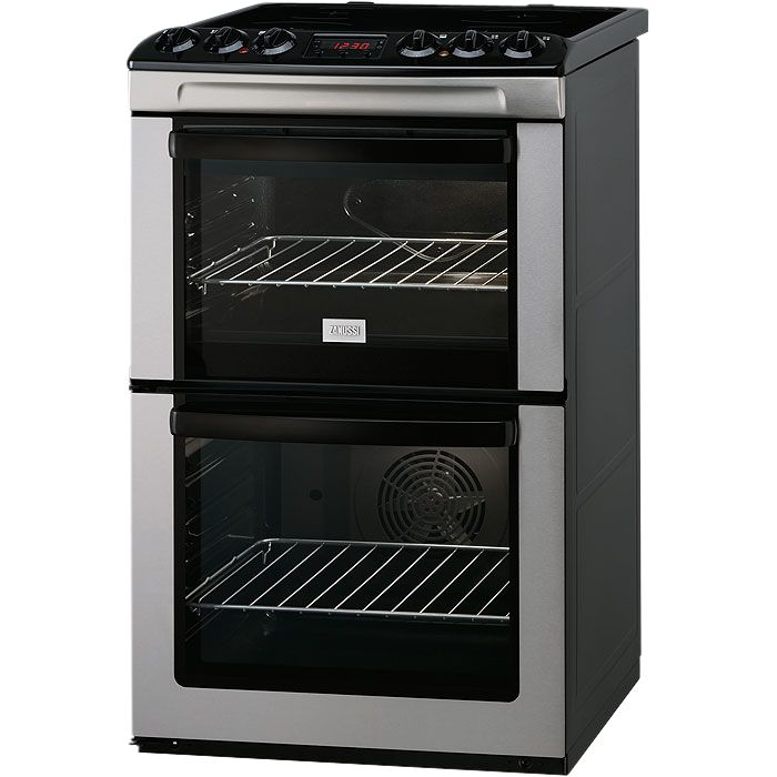 Zanussi ZCV550MXC Electric Cooker, Stainless Steel at John Lewis