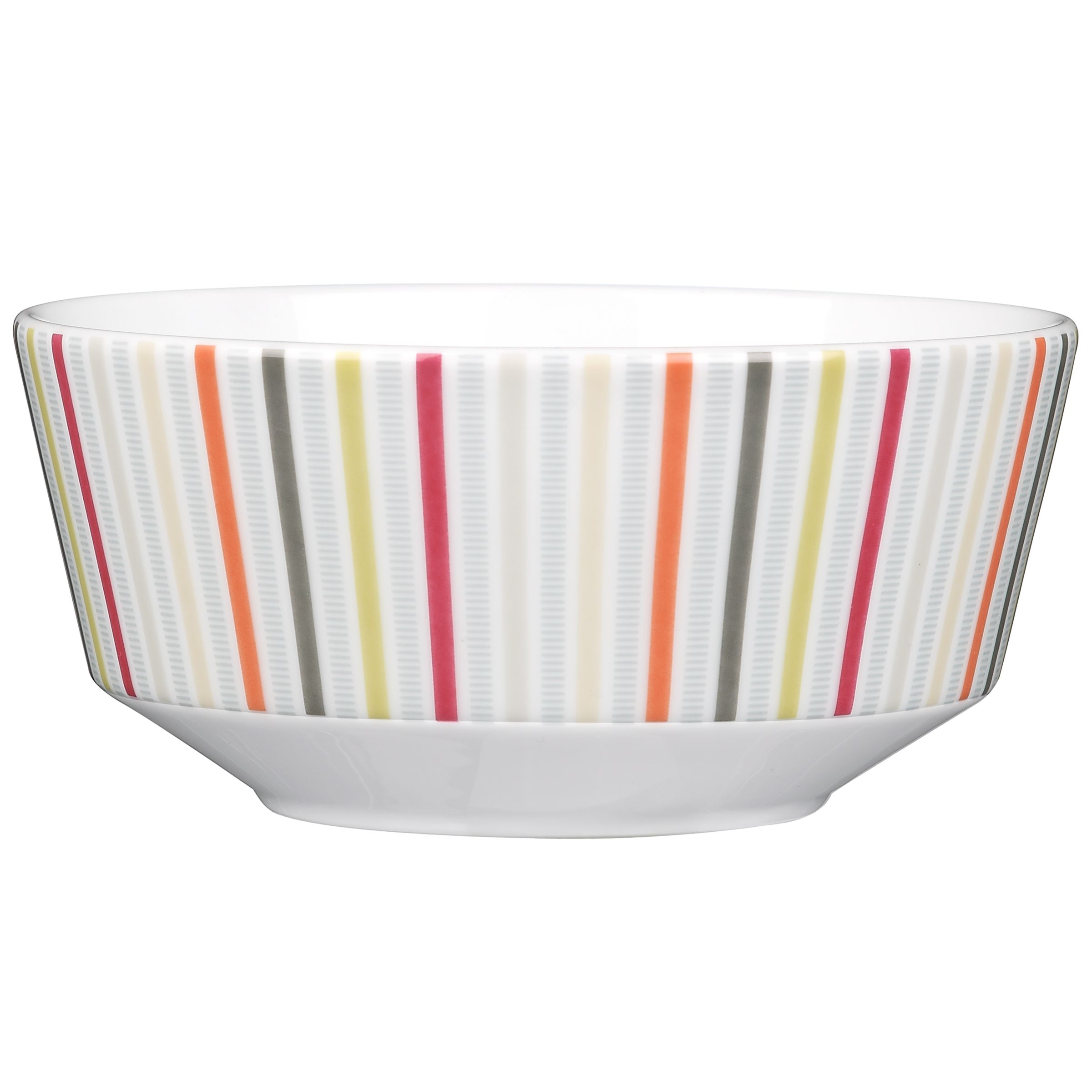 John Lewis Connect Stripe Cereal Bowl, Multi, Dia.16.5cm