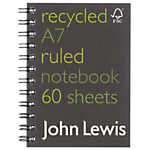 John Lewis FSC Recycled Notebook, A7