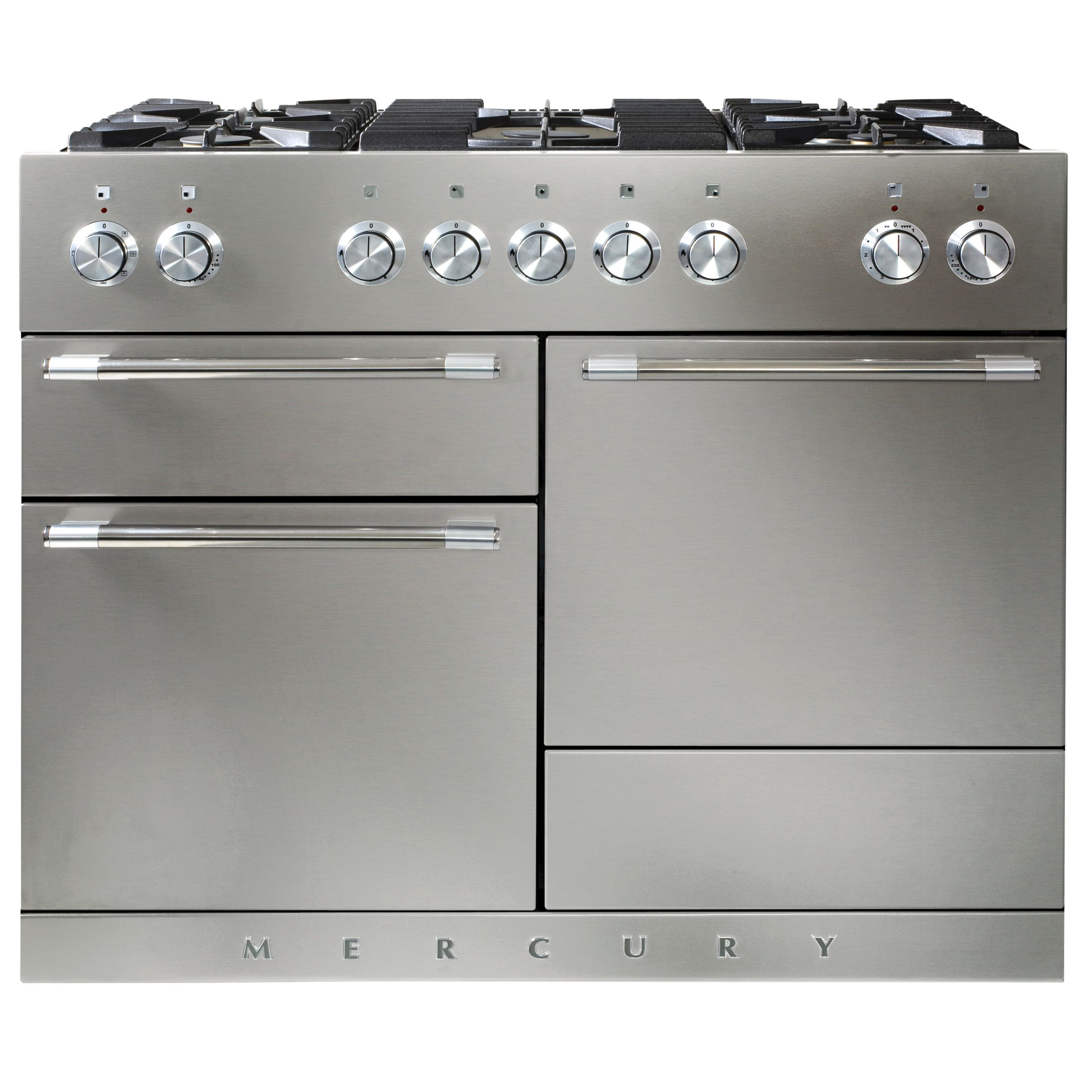 Mercury MCY1100DFSS Dual Fuel Cooker, Stainless Steel at John Lewis