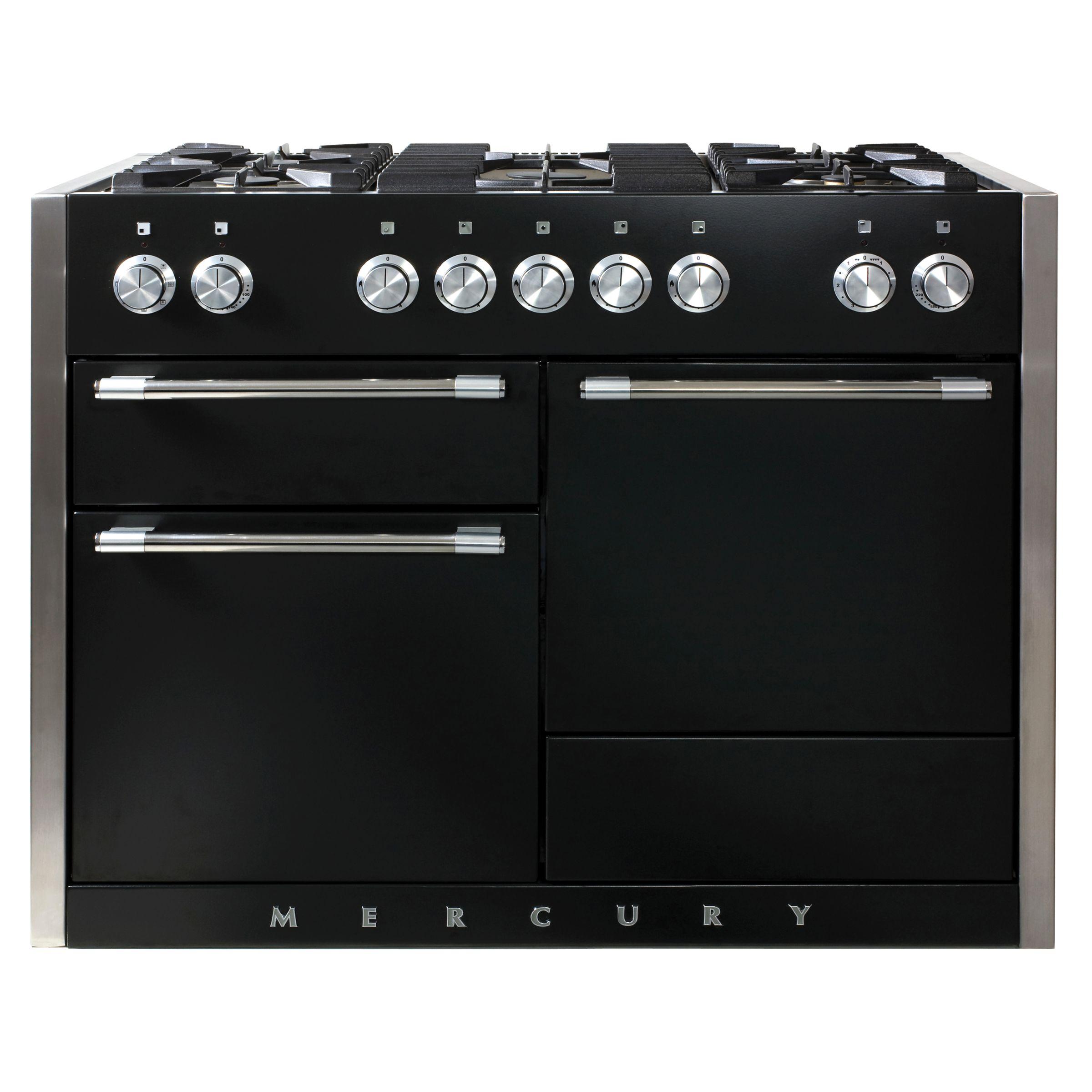 Mercury MCY1200DFLQ Dual Fuel Cooker, Black at John Lewis