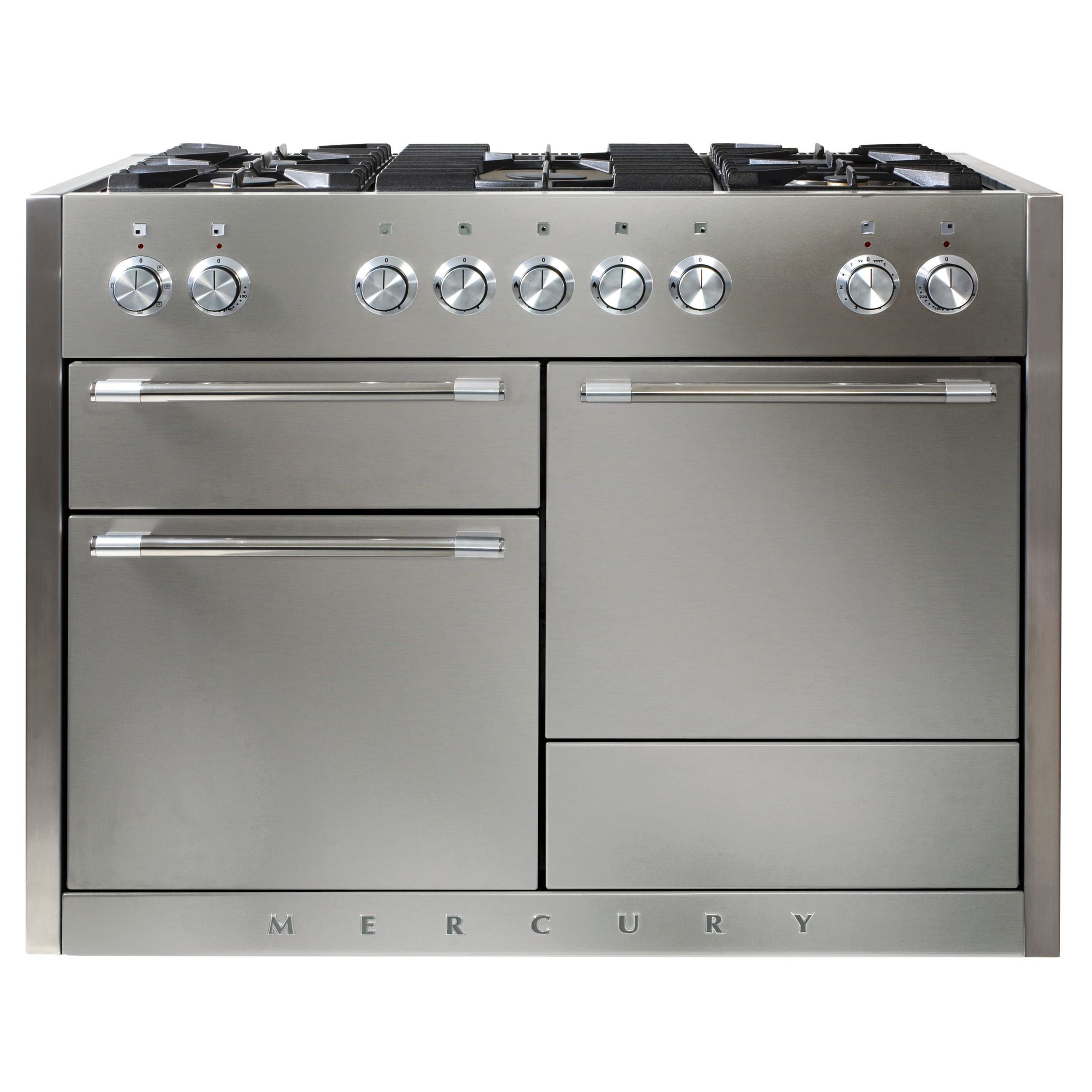 Mercury MCY1200DFSS Dual Fuel Cooker, Stainless Steel at John Lewis