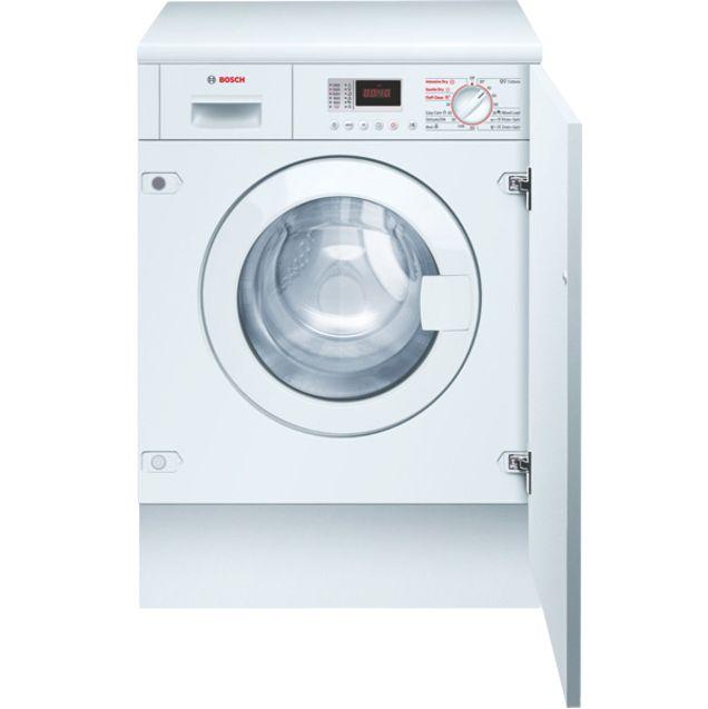 Bosch Avantixx WKD28350GB Integrated Washer Dryer, White at John Lewis