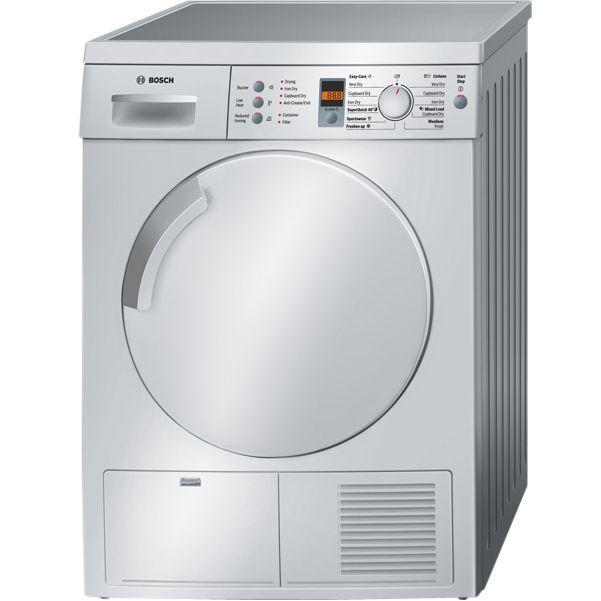 Bosch Exxcel WTE843S0GB Sensor Condenser Tumble Dryer, Silver at John Lewis
