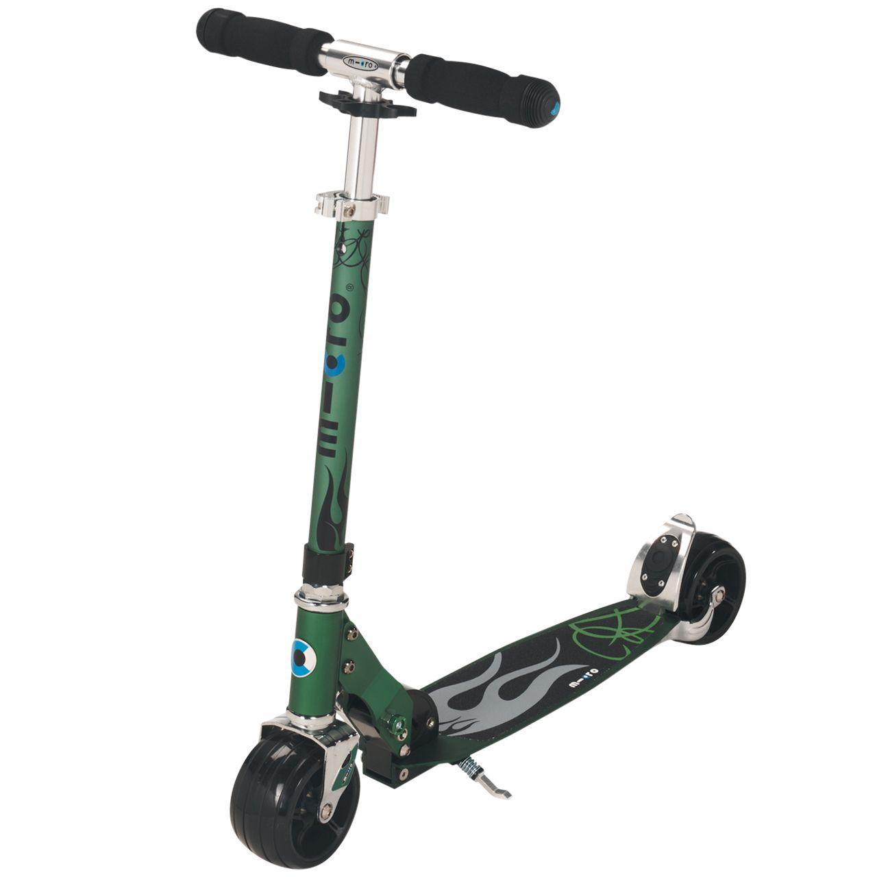 Micro Rocket Aluminium Scooter, Green