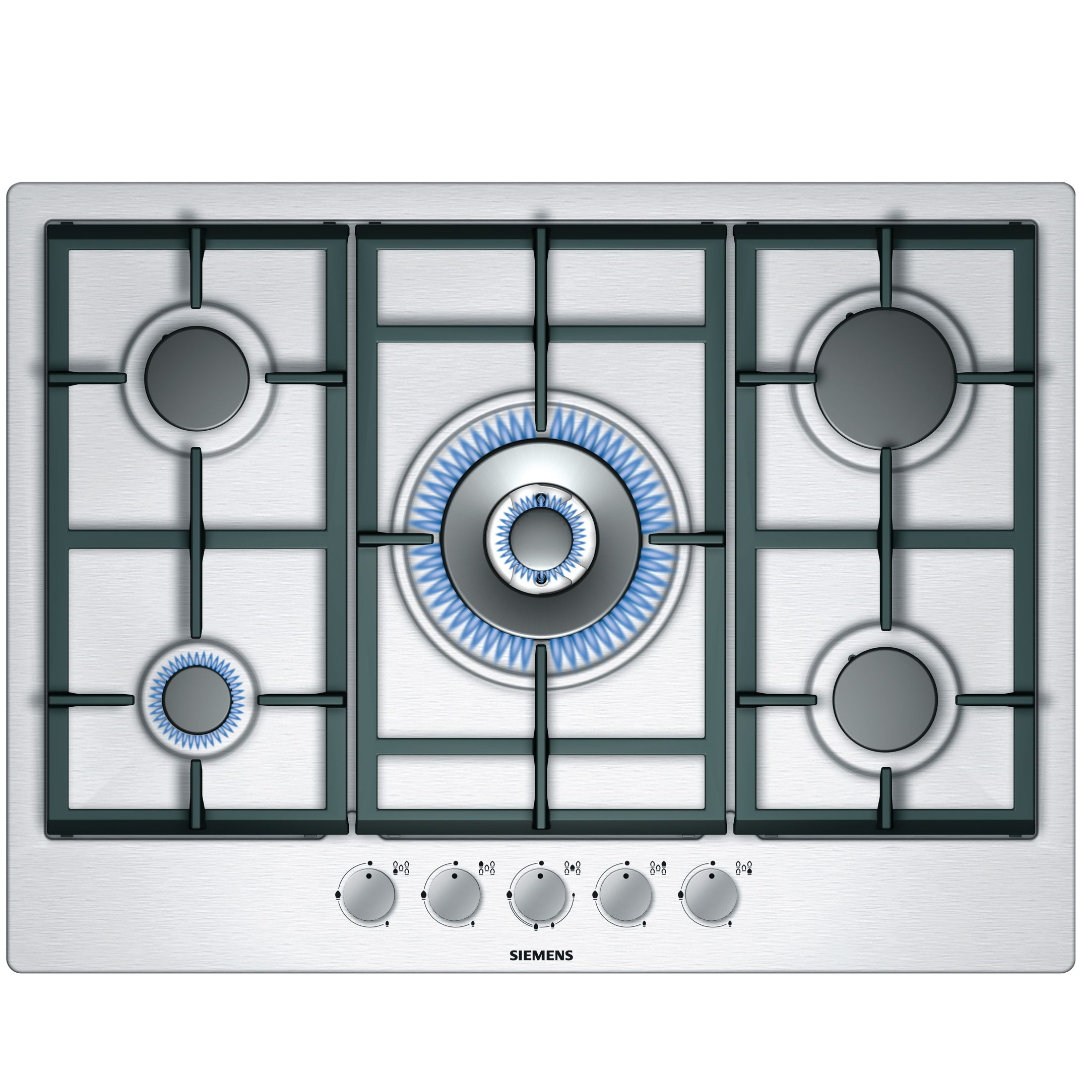 Siemens EC715RB90E Gas Hob, Stainless Steel at John Lewis