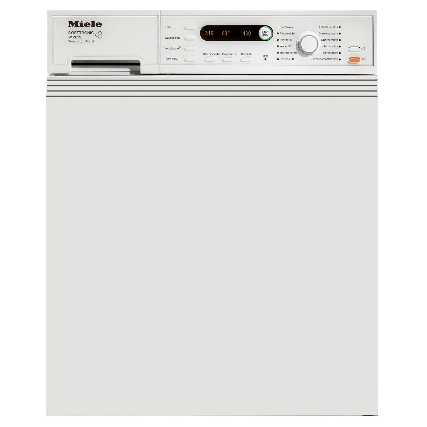 Miele W2819i Semi-Integrated Washing Machine, 5.5kg Load, A+ Energy Rating, 1400rpm Spin, White