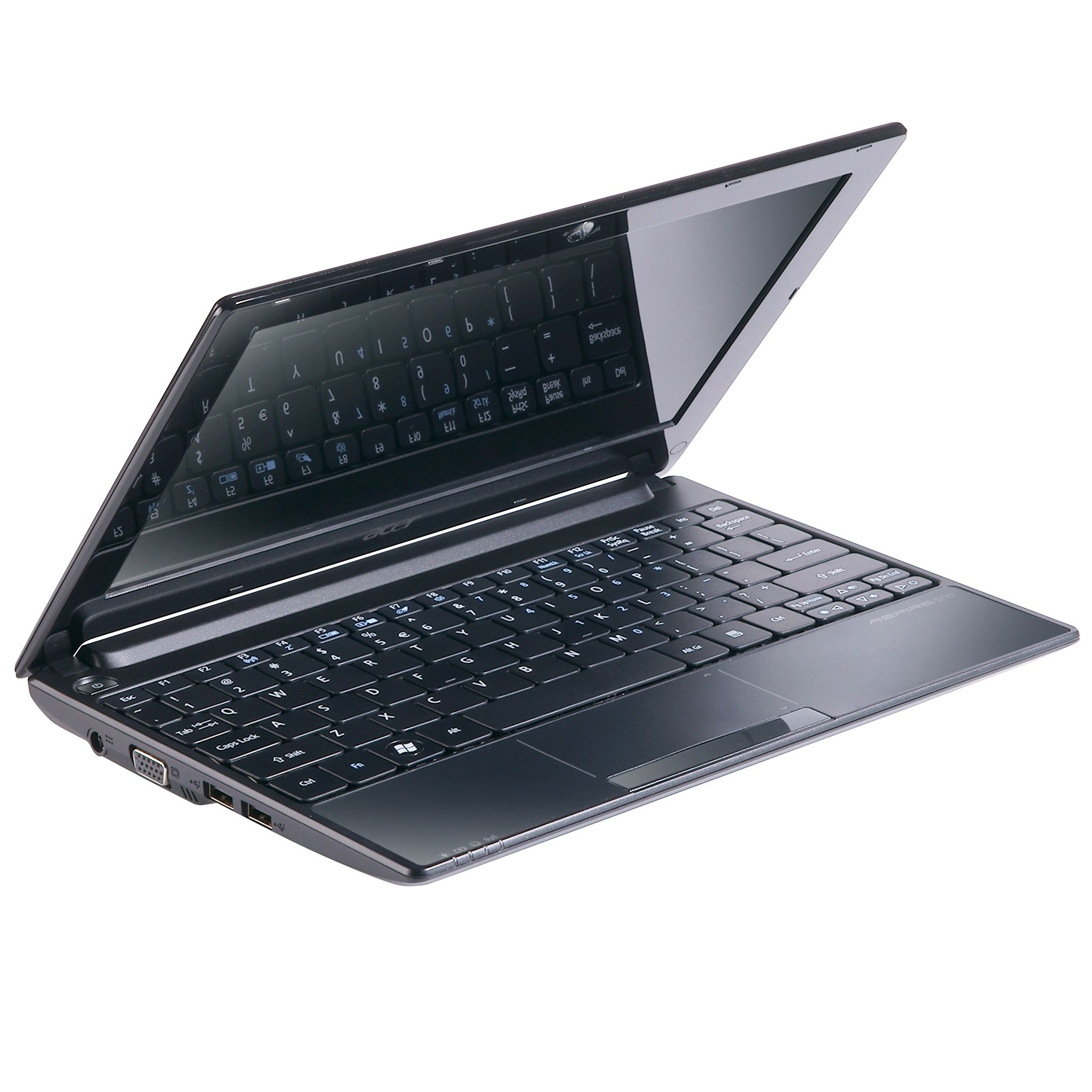 Acer Aspire One D255 Netbook, 1.66GHz with 10.1 Inch Display, Black at JohnLewis