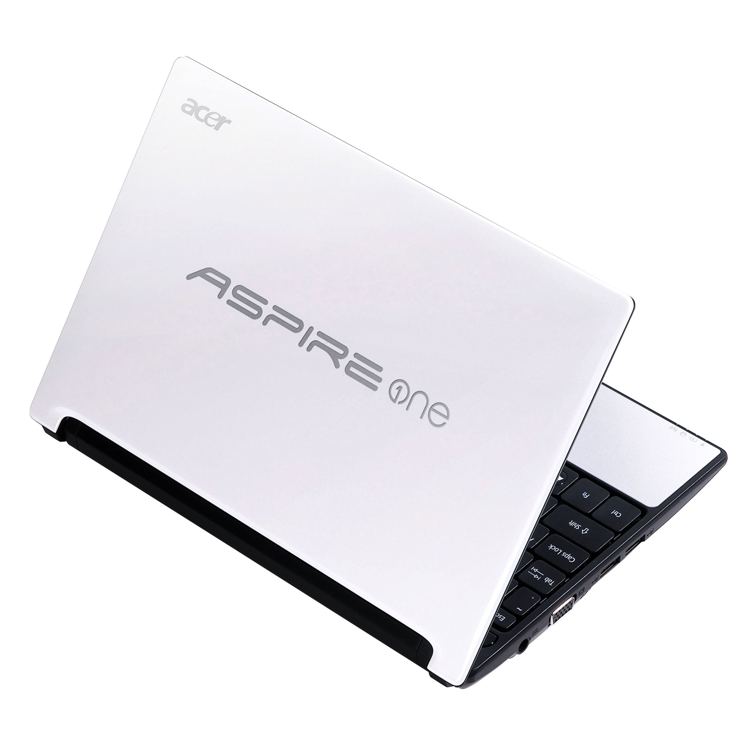 Acer Aspire One D255 Netbook, 1.66GHz with 10.1 Inch Display, White/Silver at JohnLewis