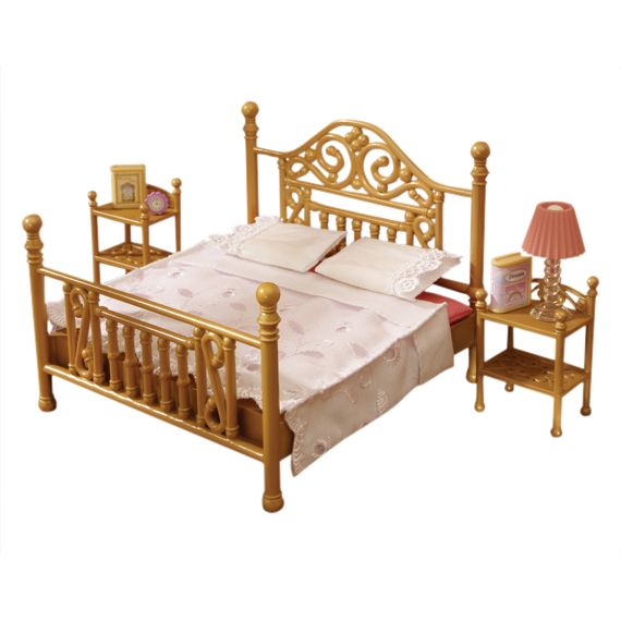 Sylvanian Families Luxury Brass Bed Set