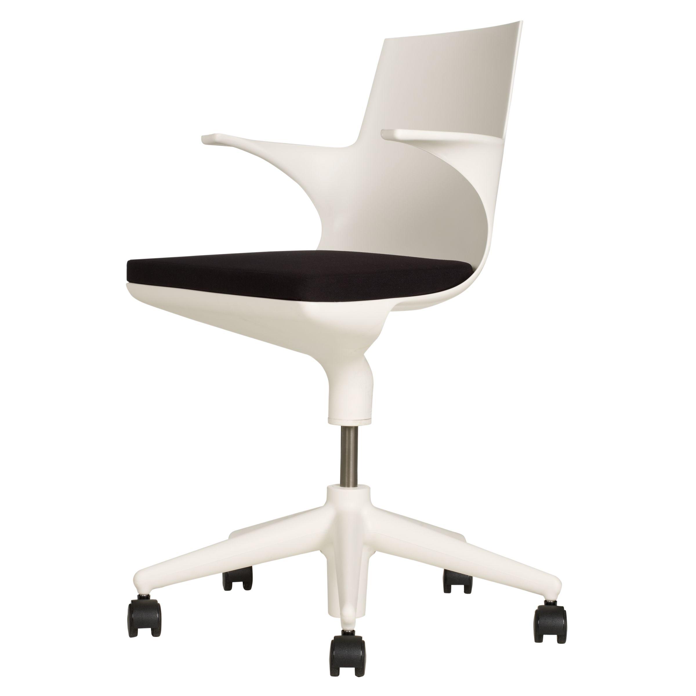 Kartell Spoon Office Chair, White / Black