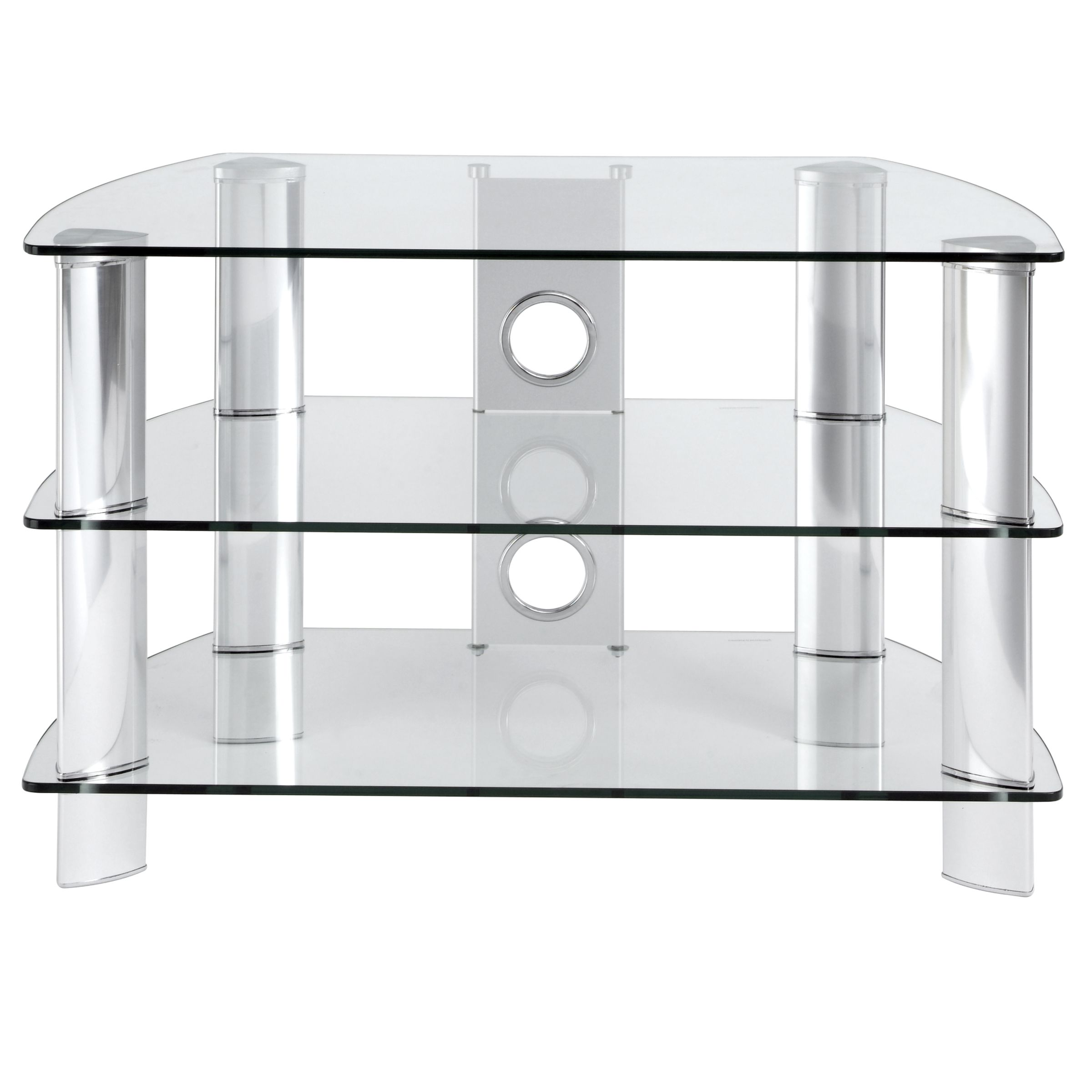 JL600/C10 Television Stand, Clear Glass