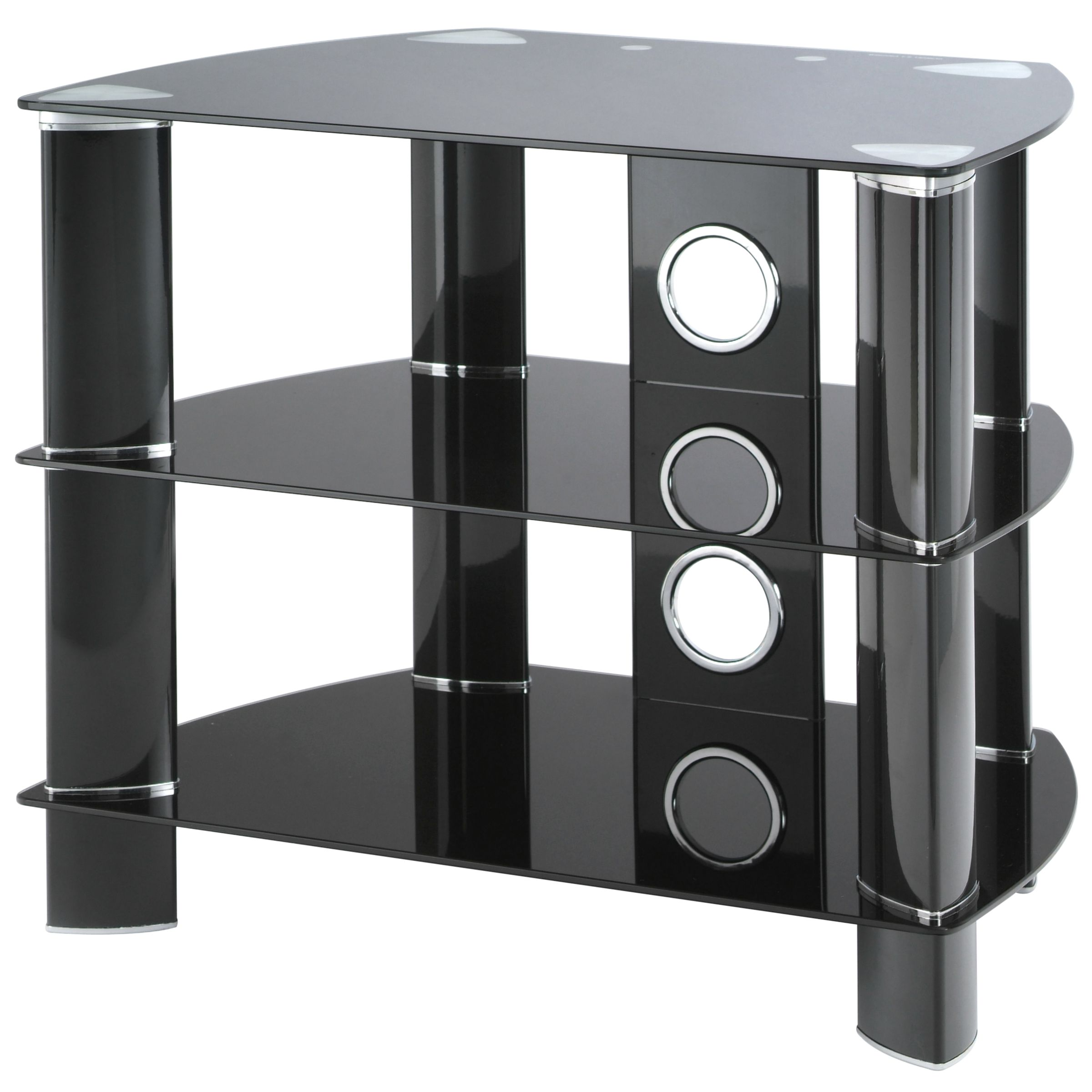 JL600/B10 Television Stand, Black Glass