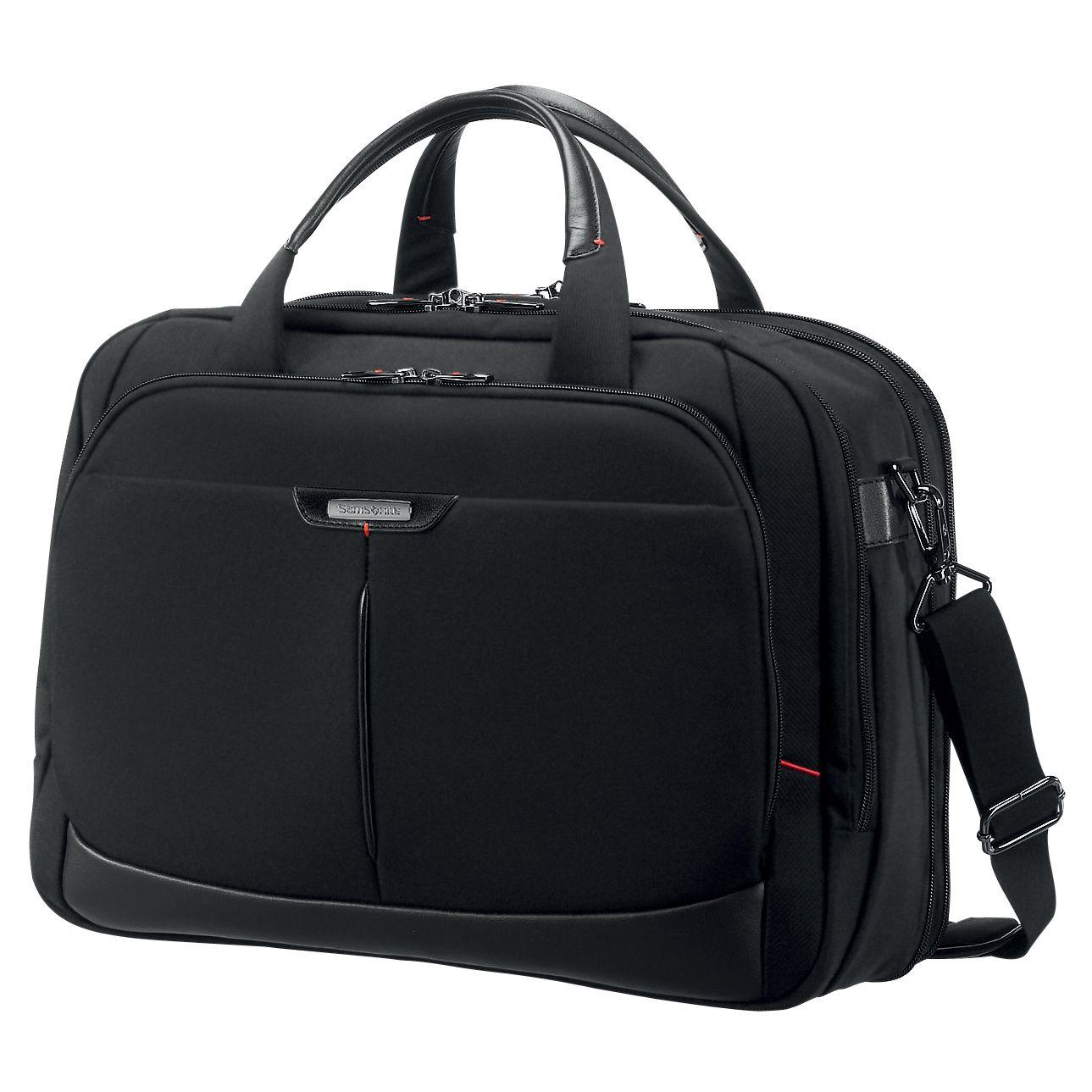 Samsonite Pro-DLX³ Laptop Briefcase, Black at John Lewis